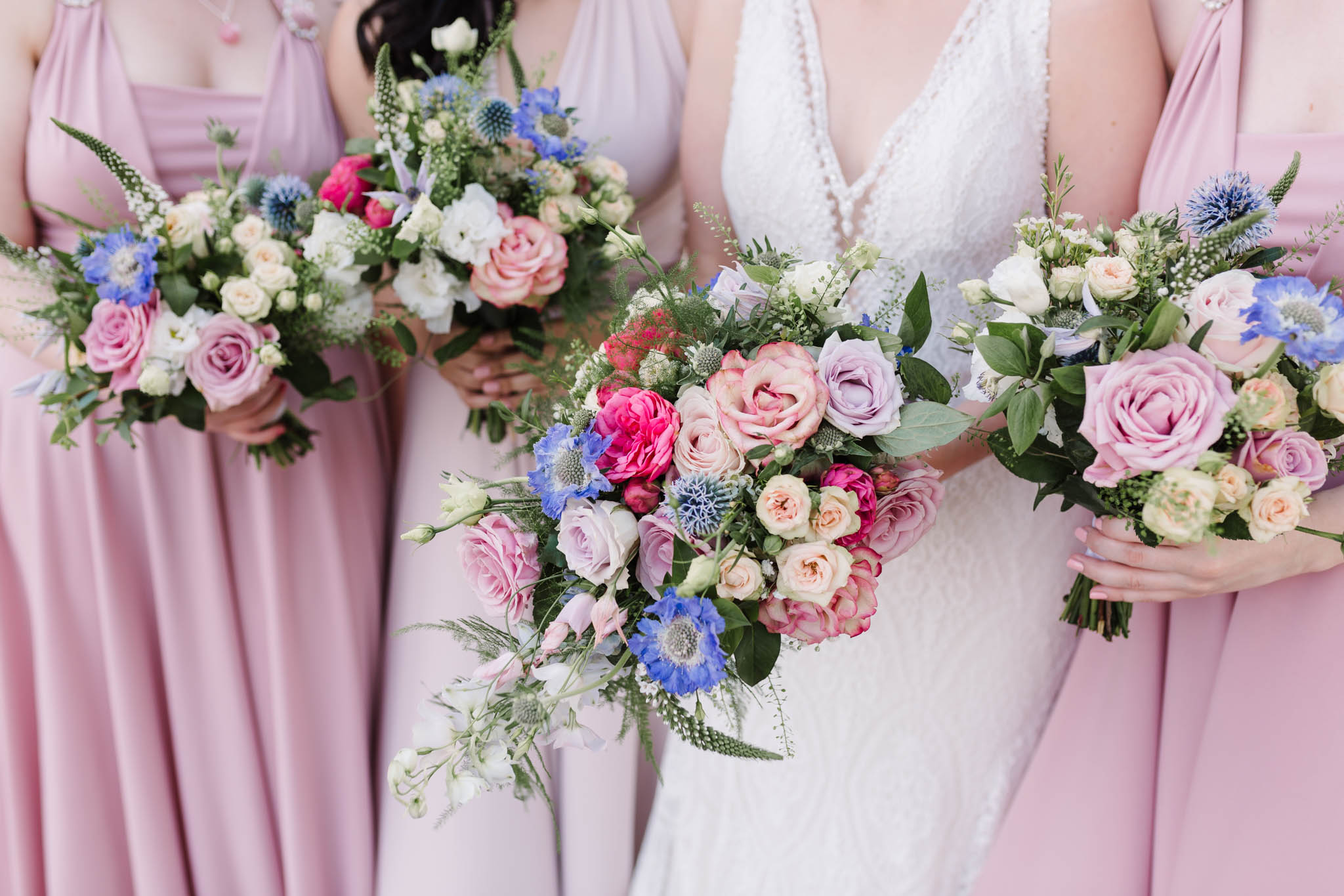 colourful pastel wedding flowers- old parish rooms