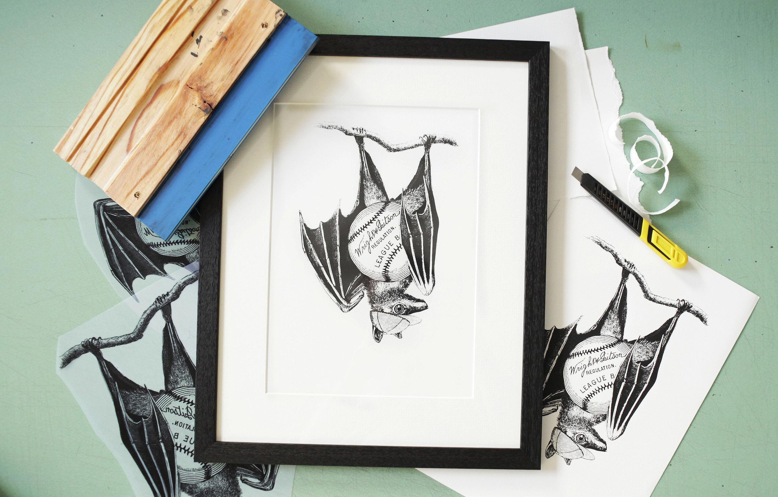 'Baseball Bat' Screen Print