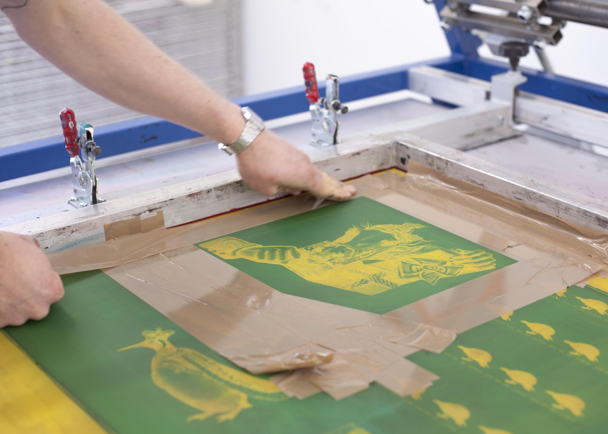 Printing at Squeegie and Ink Studios