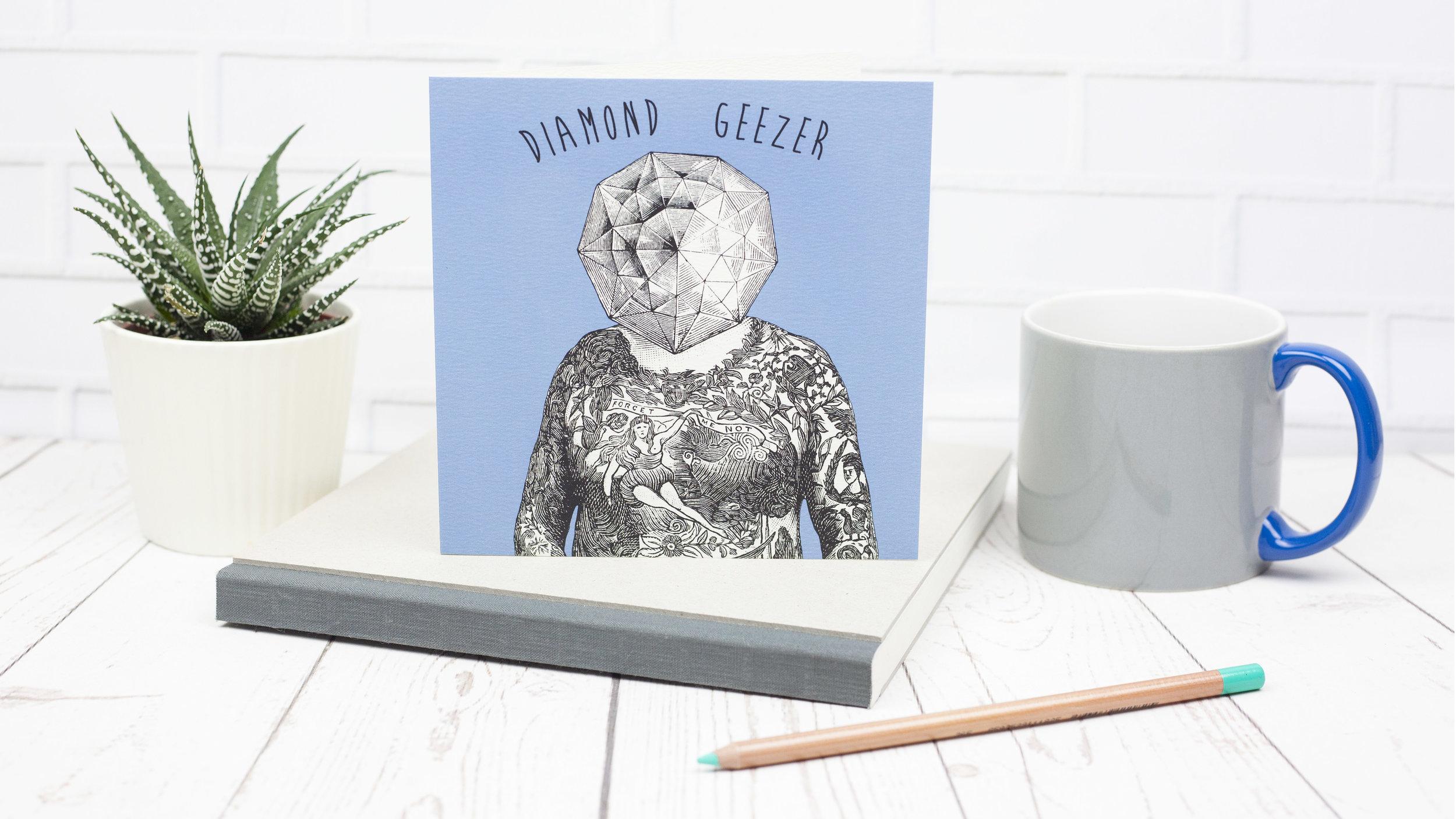 Diamond Geezer Blank Greetings Card