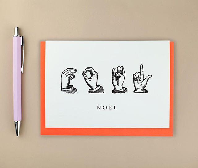 Saying it in Signing . N O E L . . . #etsy #etsyshop #etsyseller @etsy @etsyuk #ASL #noel #signing #sigblanguage #maker #makersmovement #makersgonnamake #gifting #greetingscards