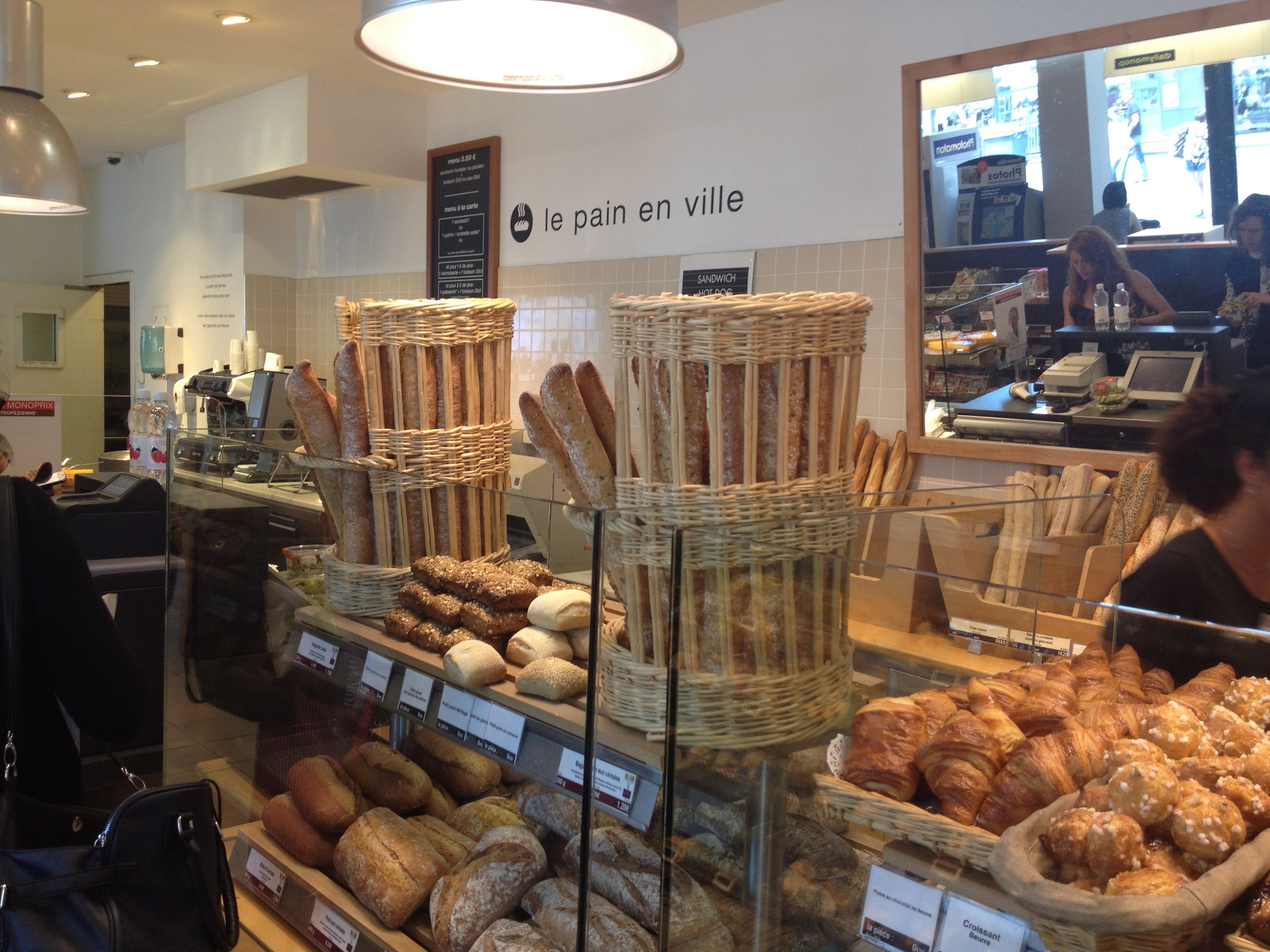 The bakery in Monoprix. Not bad!