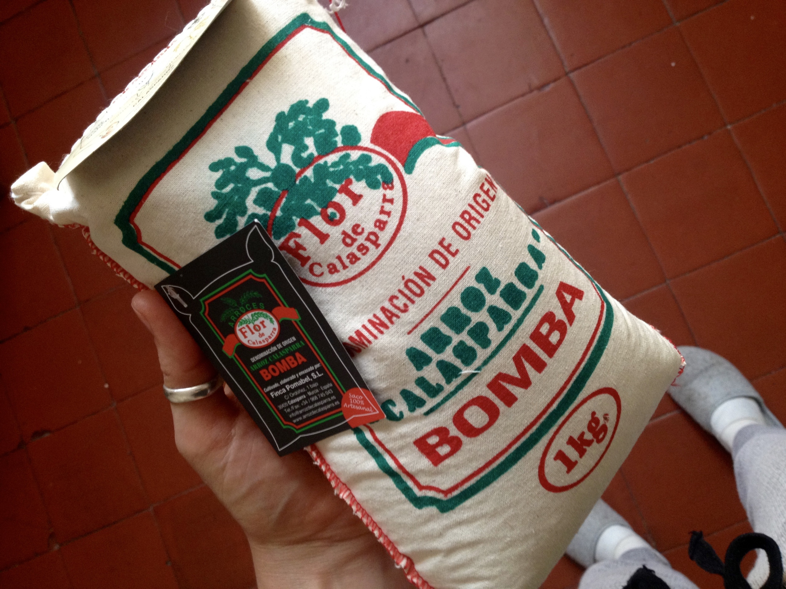 1 kilogram of bomba rice from Iber y Co. (9 euros!)