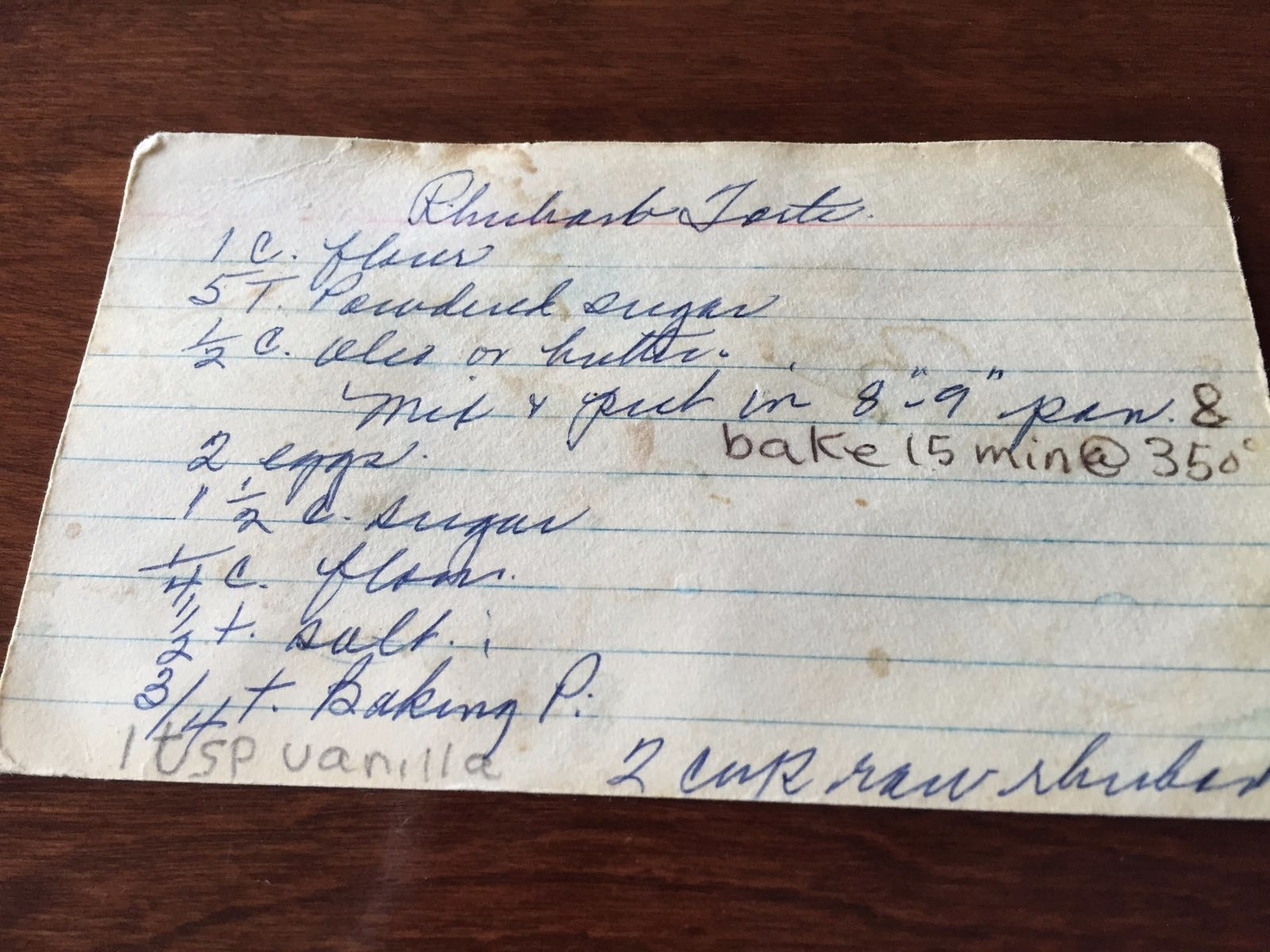 My mom got the recipe from my grandma, who likely got the recipe from one of her beauty shop clients.