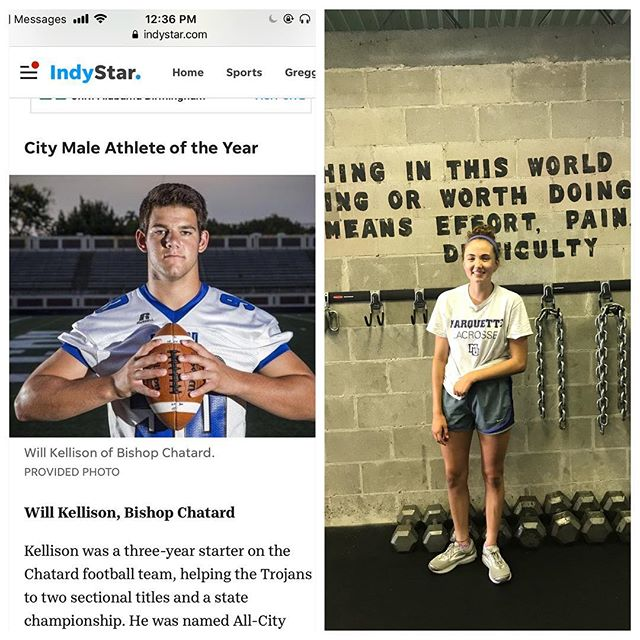 Genesis Athletes Showing Out! @willkellison awarded city male athlete of the year and @sarahmeek11 All region & All sectional Girls Lacrosse!