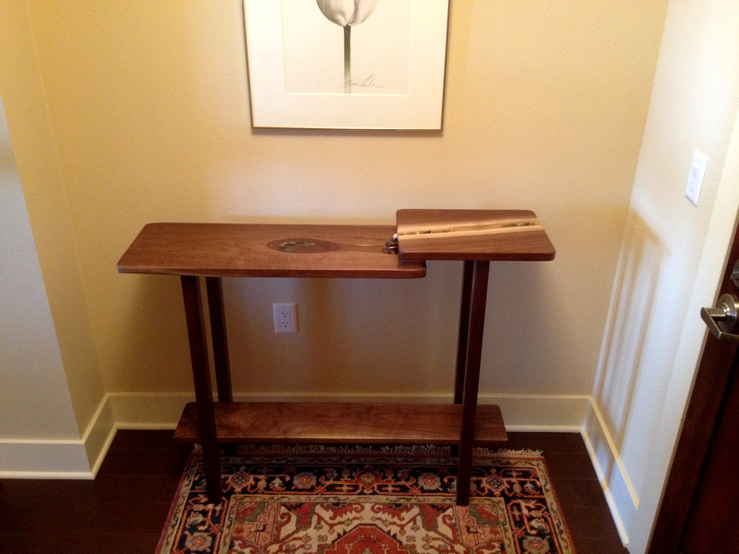 Waterfall Entry Table by Eau Claire Woodworks