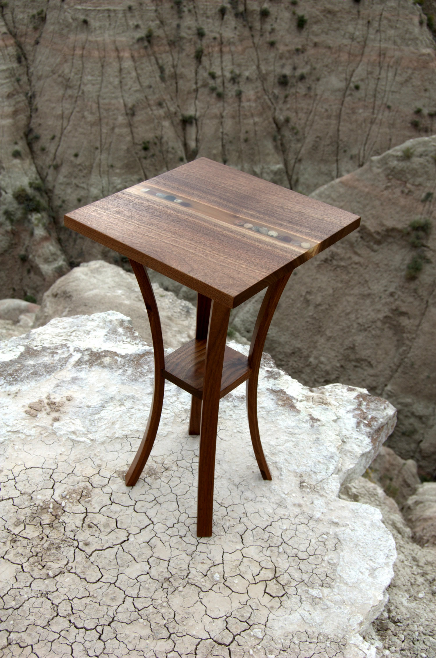 Pedestal Side Table by Eau Claire Woodworks