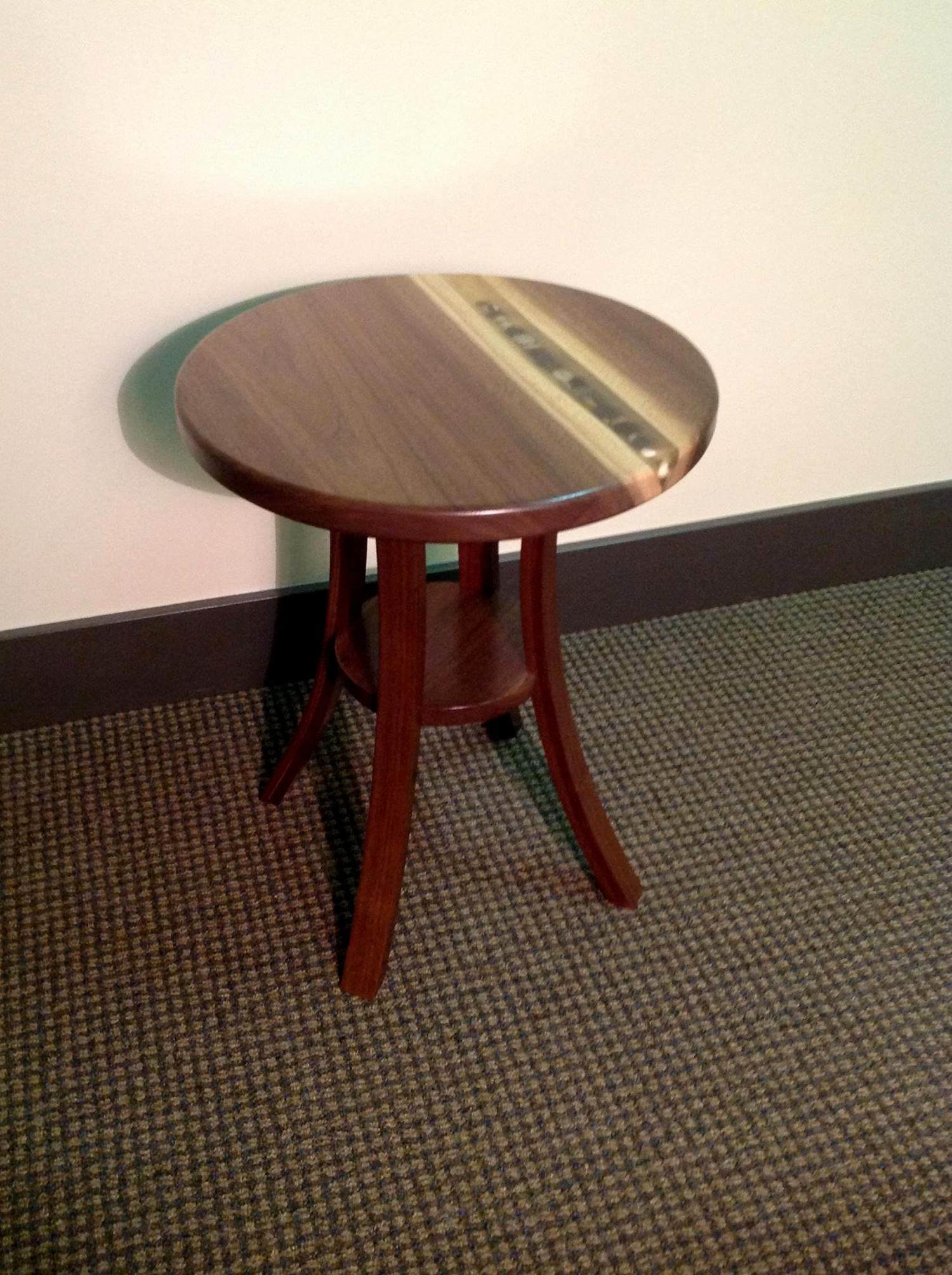 Round Side Table by Eau Claire Woodworks