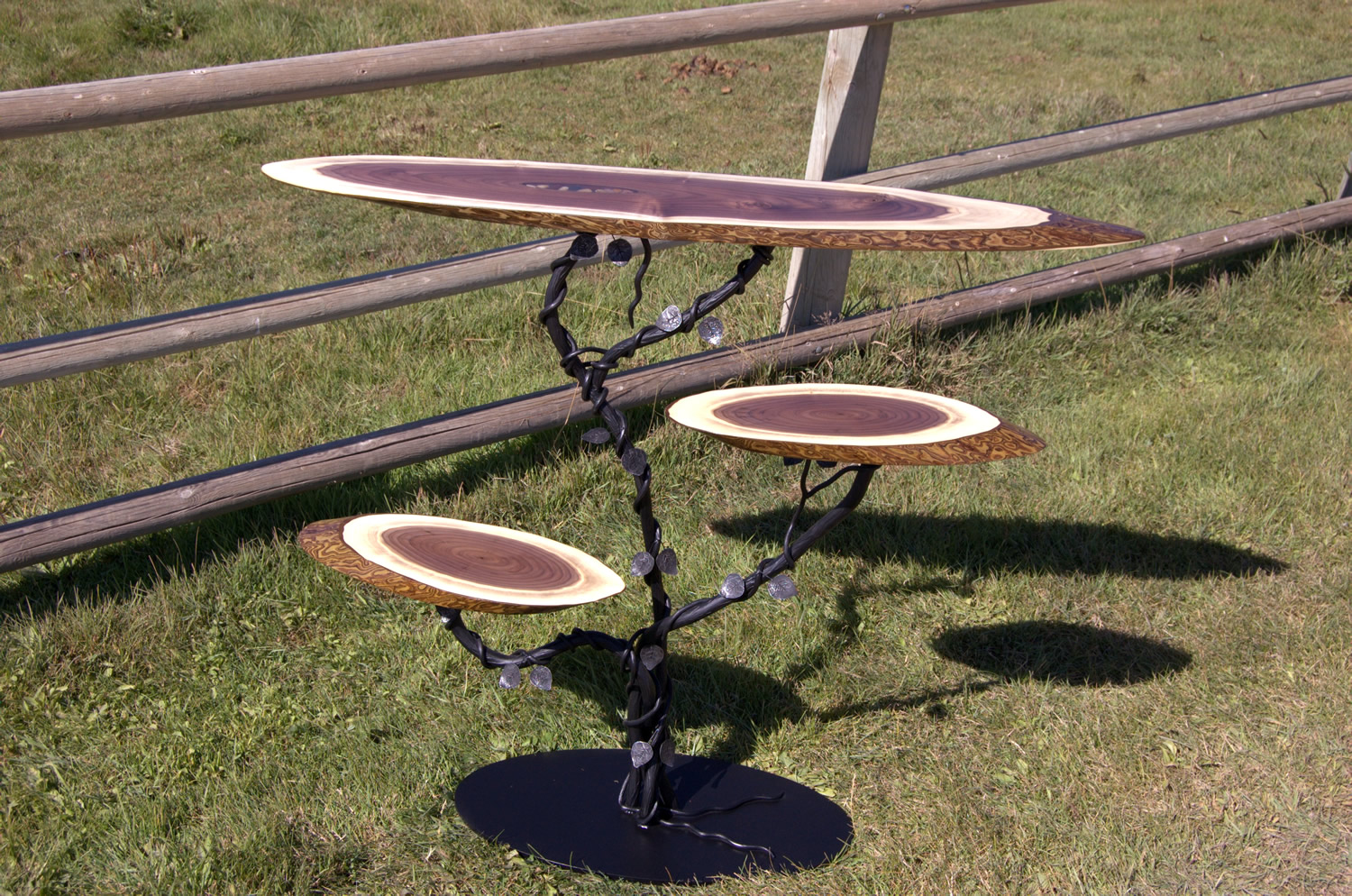 Three tier table by Eau Claire Woodworks