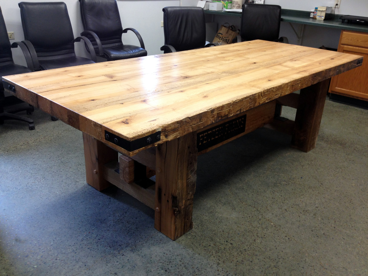 Barn Beam Table by Eau Claire Woodworks