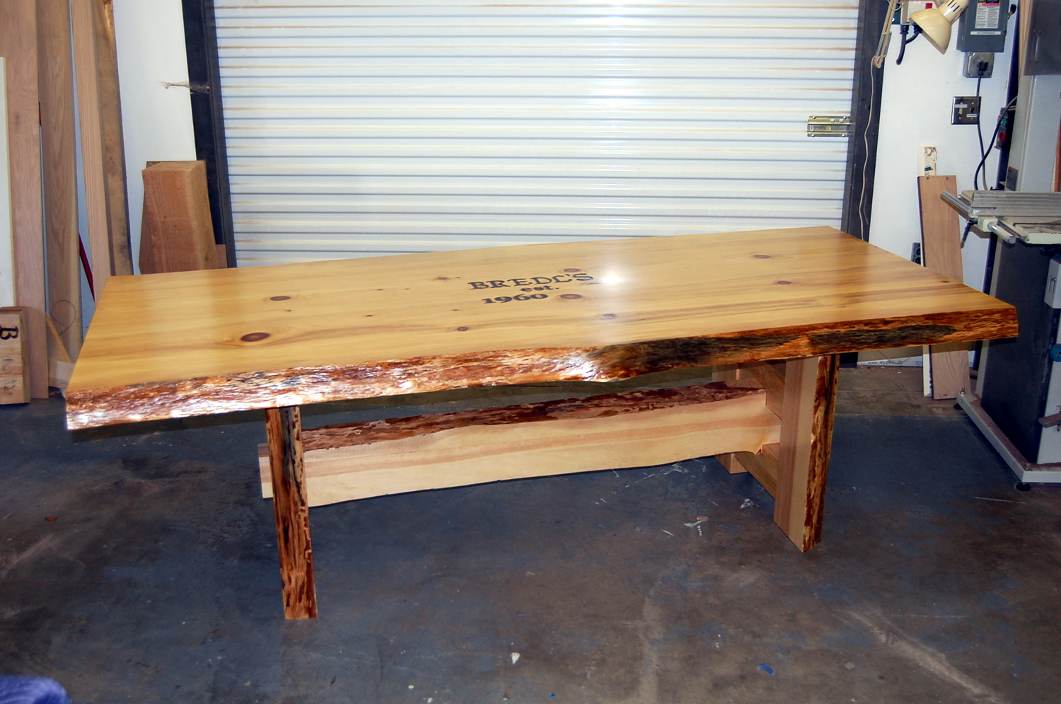 Custom Pine Dining Table by Eau Claire Woodworks