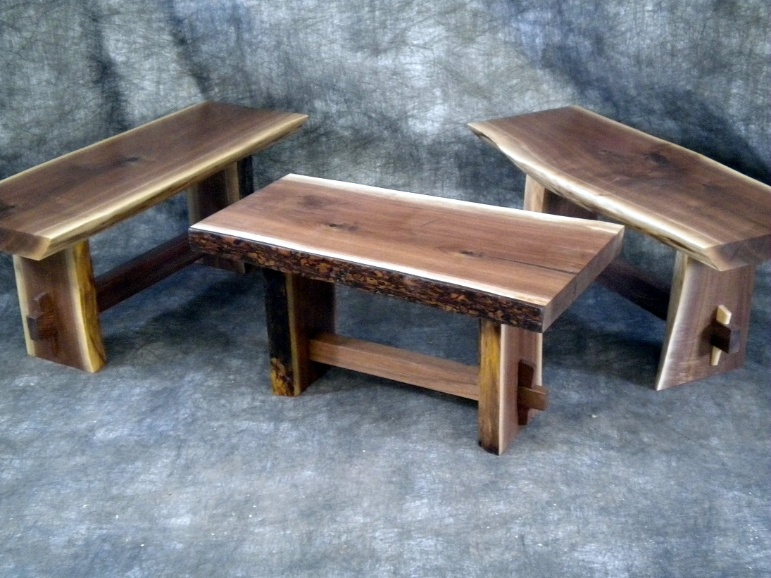 Trio of Benches by Eau Claire Woodworks