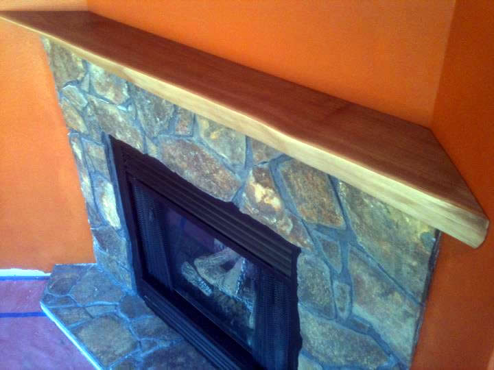 Walnut Fireplace Mantle by Eau Claire Woodworks