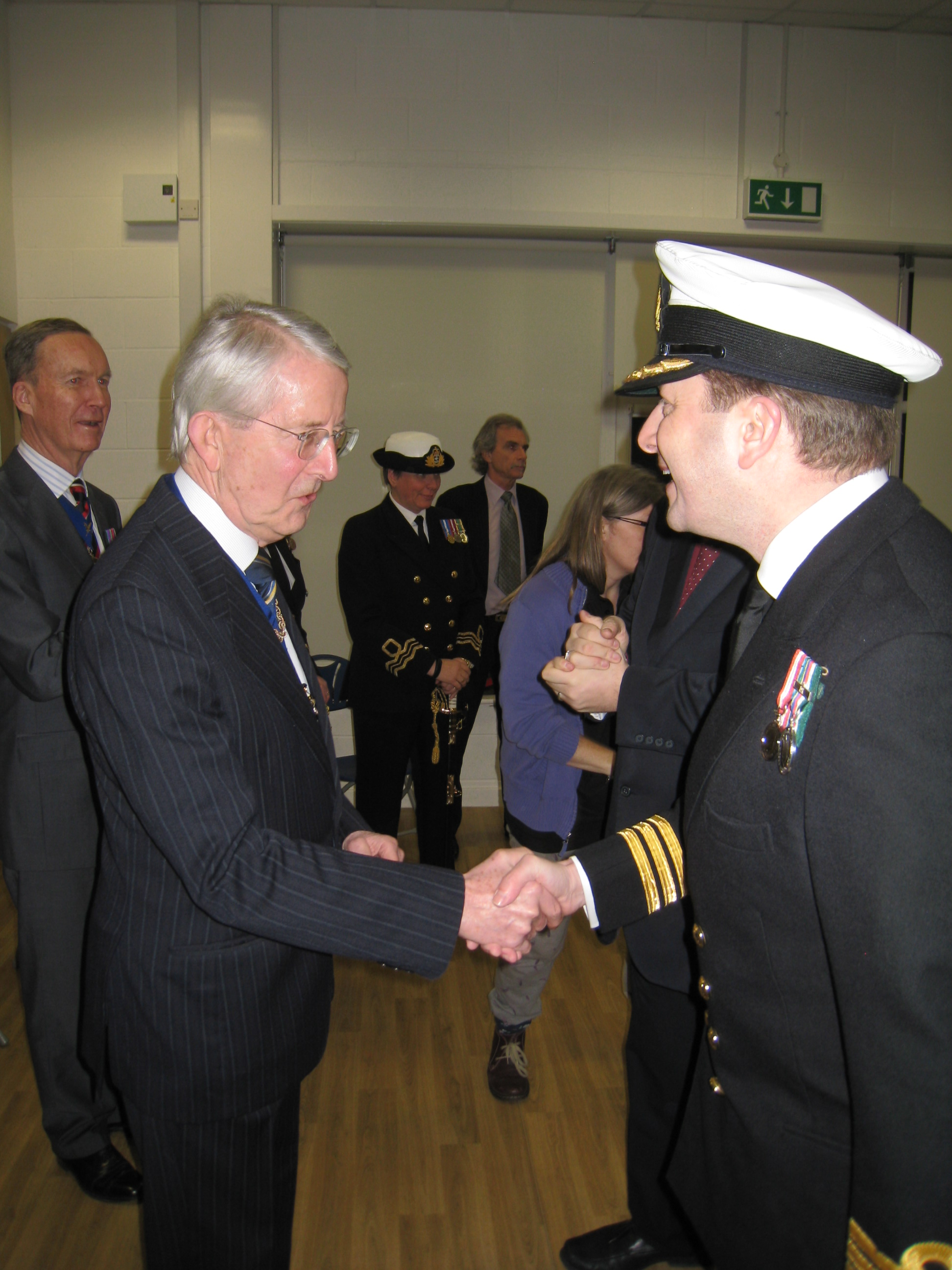 Inspecting Officer - Cdr J Nisbet RN