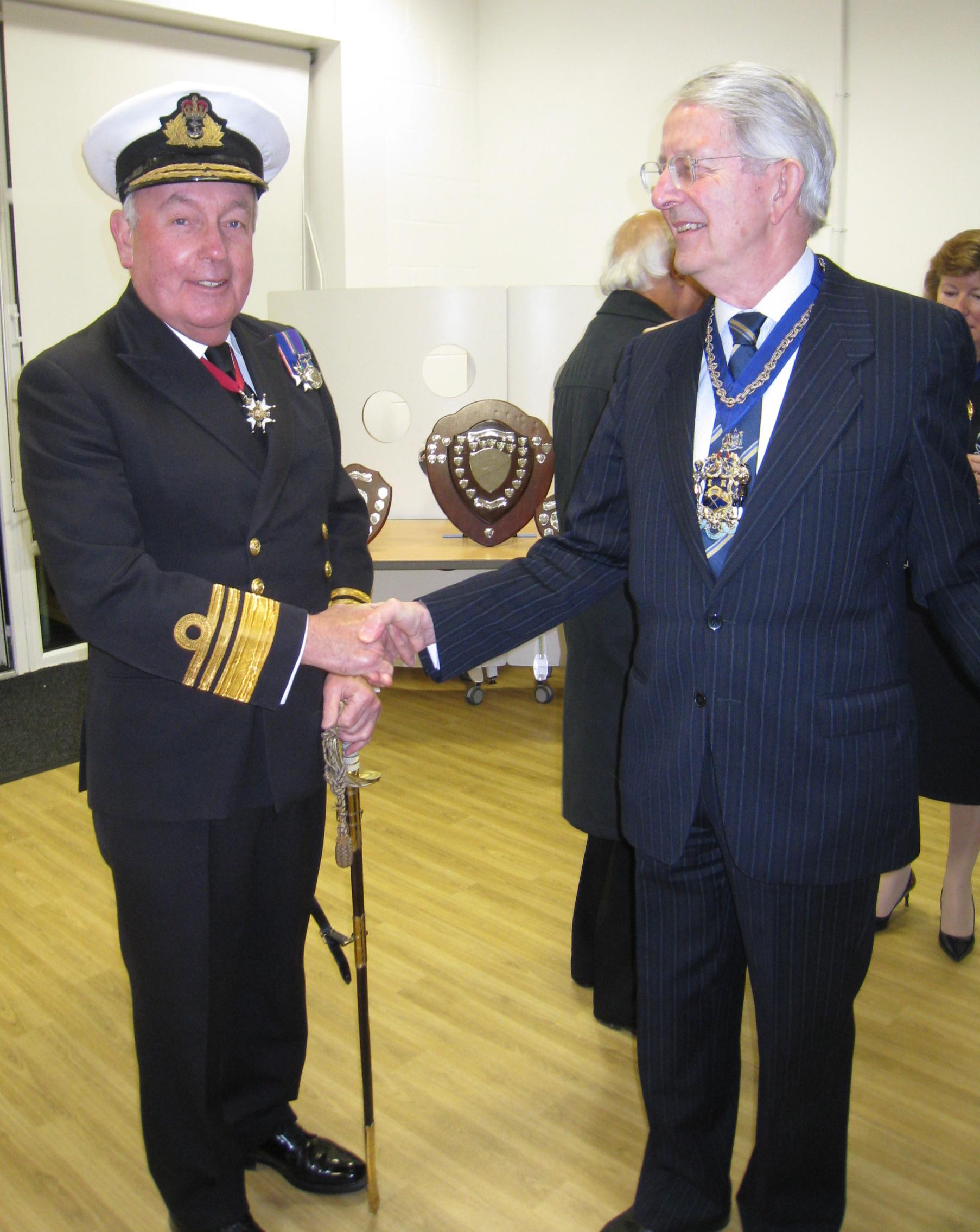 President TS Barrosa - Vice Admiral J MacAnally