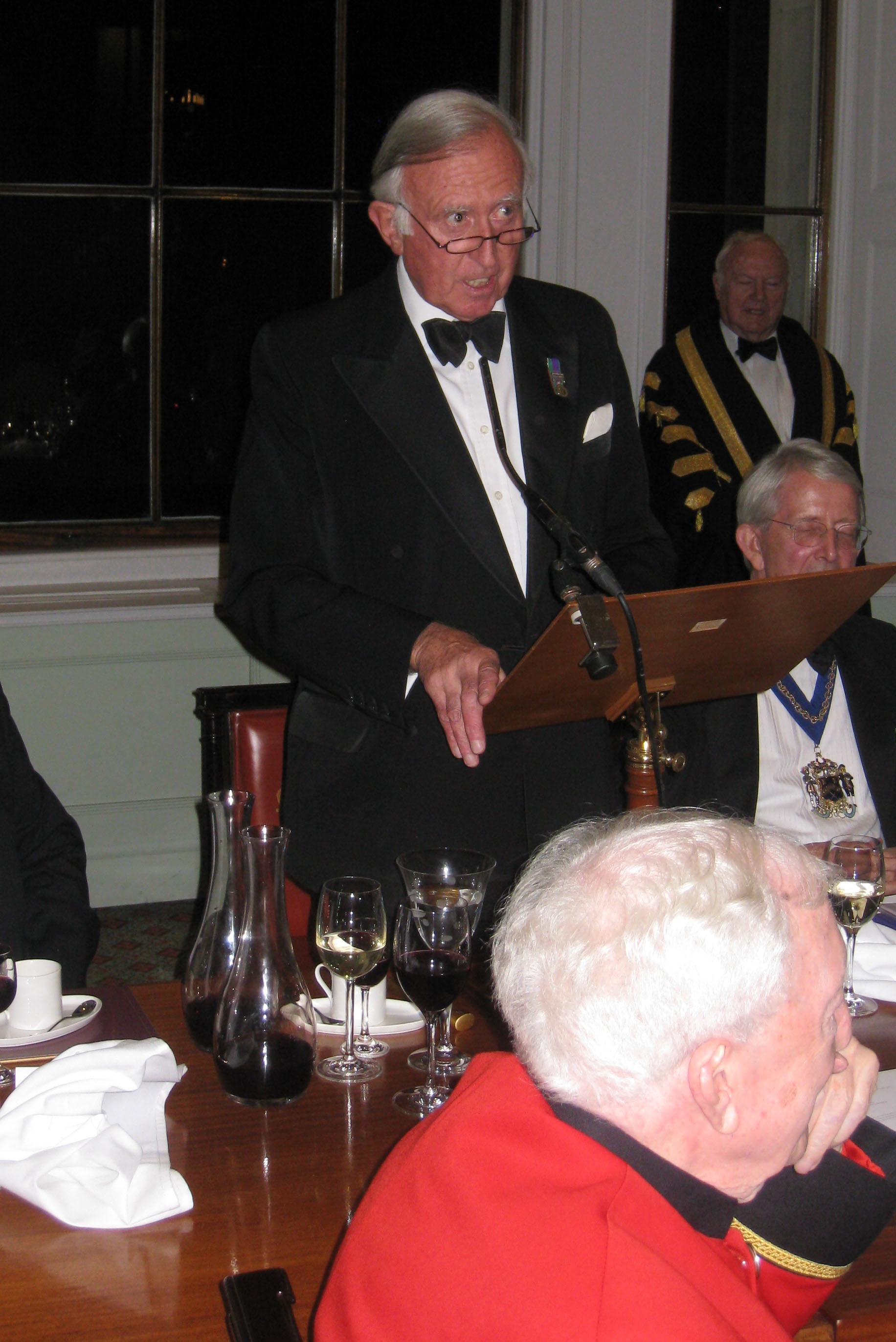 Guest Speaker - Col. Nigel Gilbert late RLC