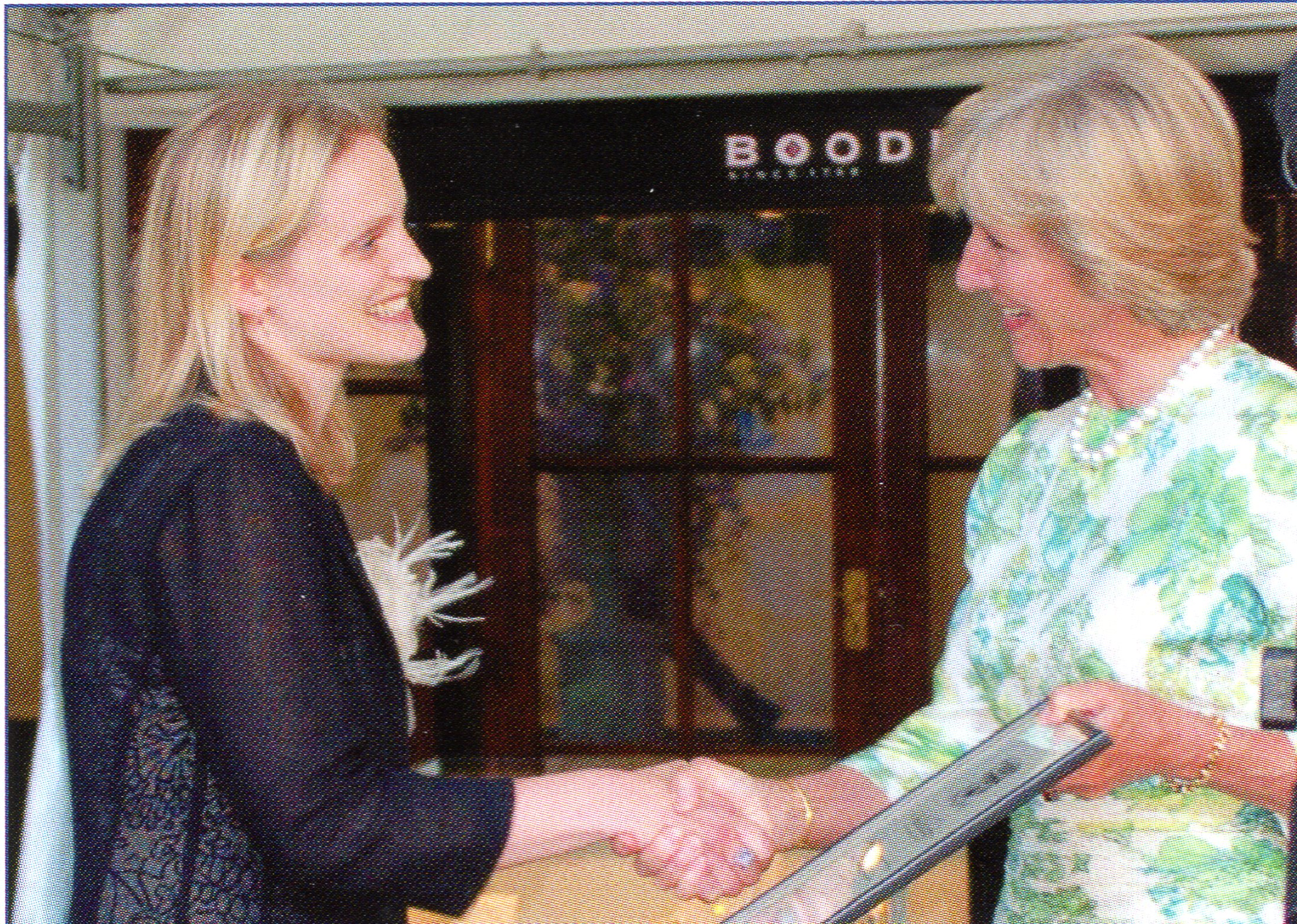 Lucy Reed receiving her Award from HRH Duchess of Gloucester