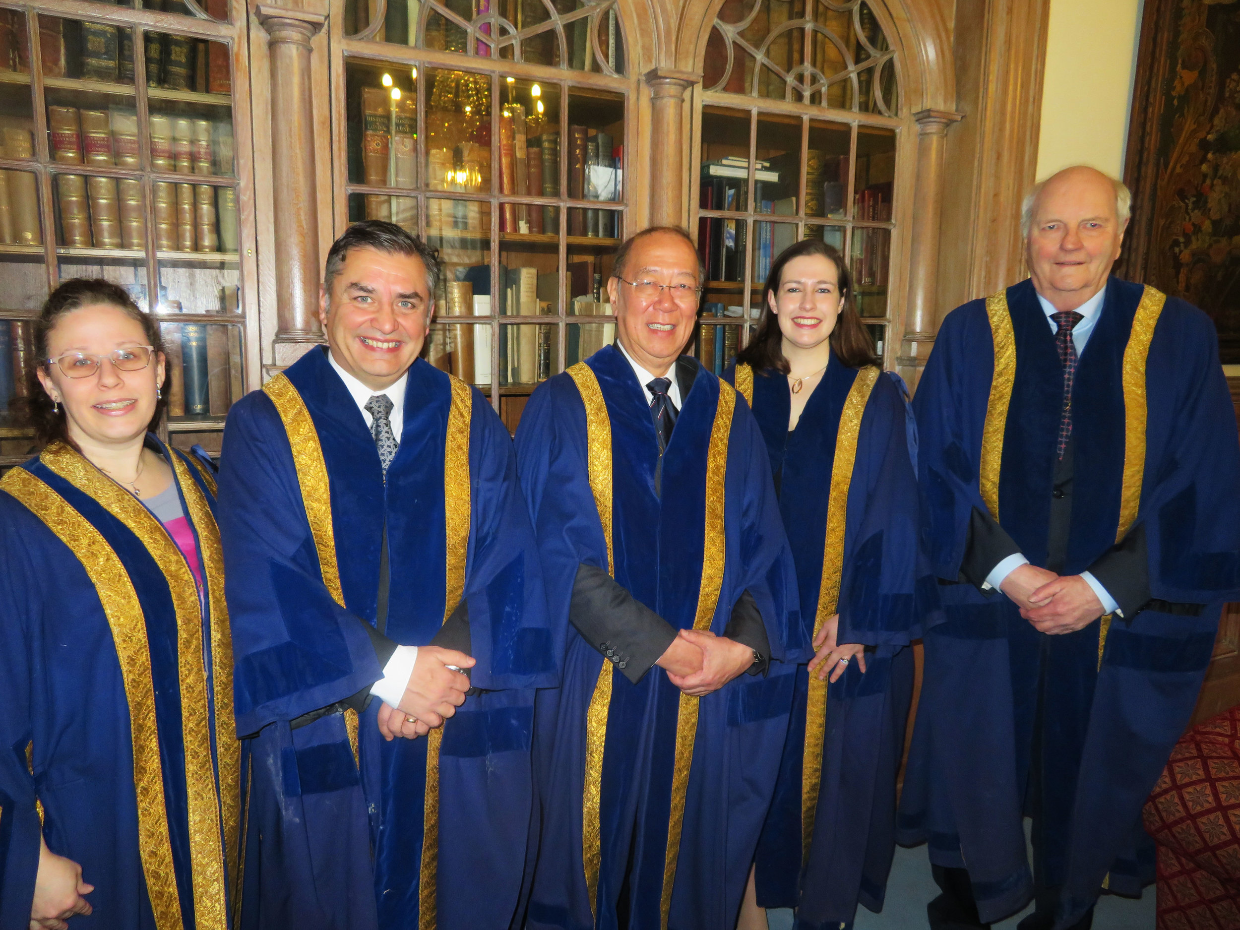 New Liverymen Karen Brewer, Sean Eley, Ronald Ng, Laura Warren & Alistair Whitehead