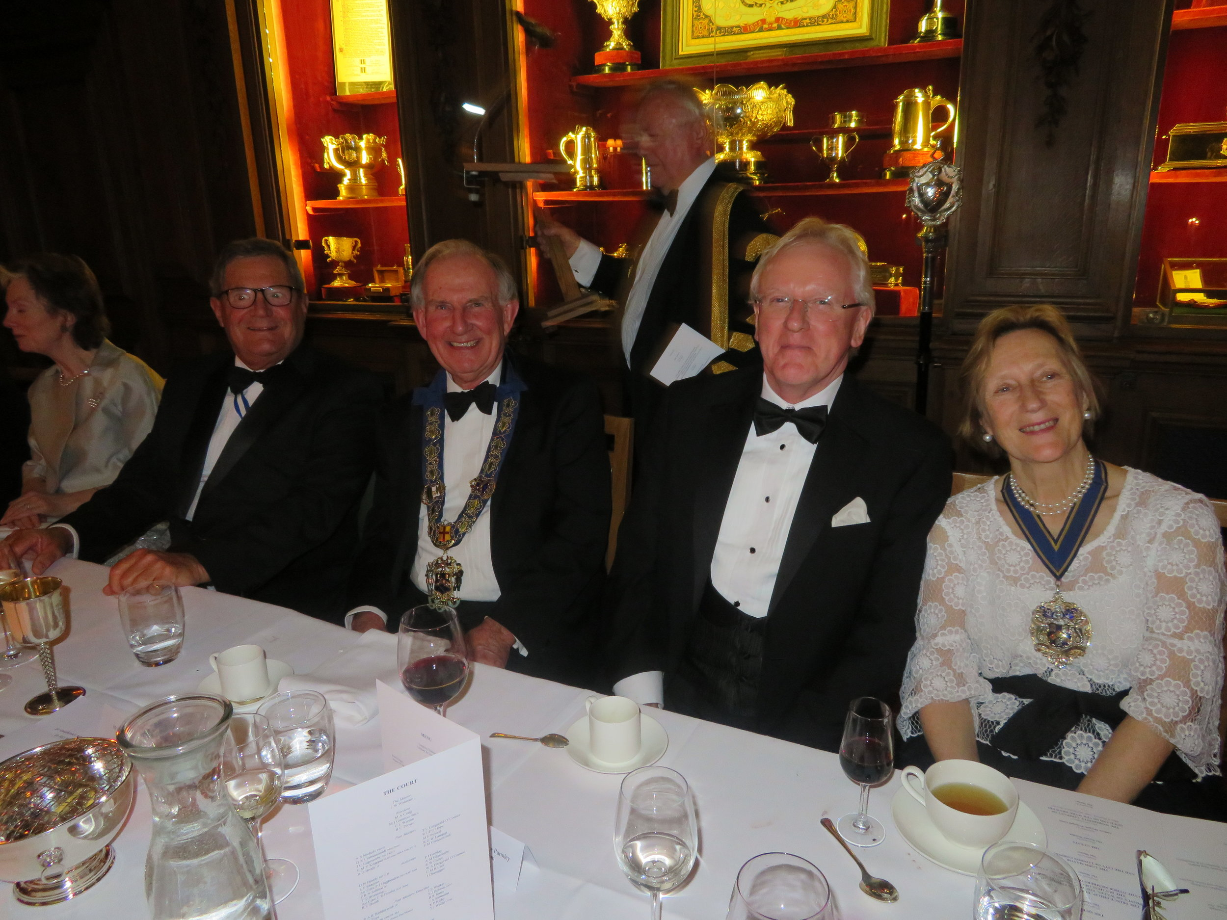 Mr Andrew Morgan, The Master, Ald. Sir Andrew Parmley, Mrs Ann Buxton Master Pewterer