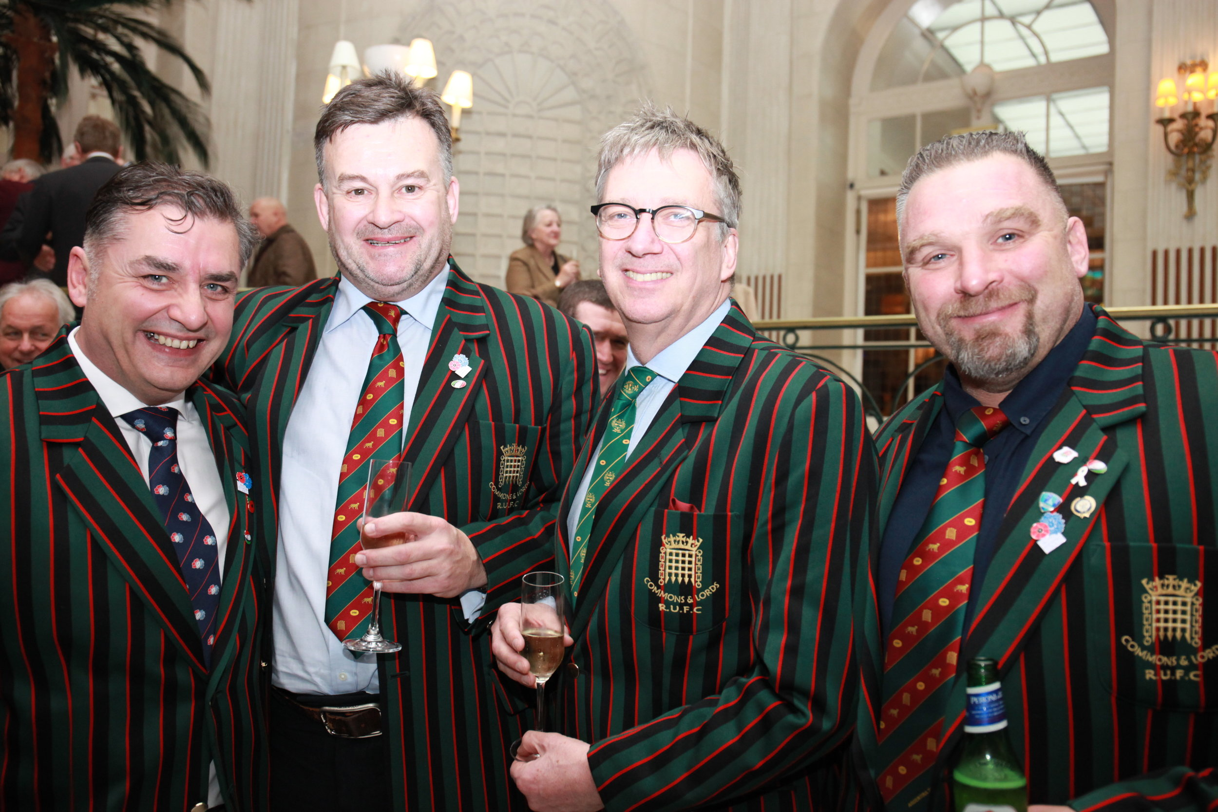 Liverymen Sean Eley and Robert Booth with friends