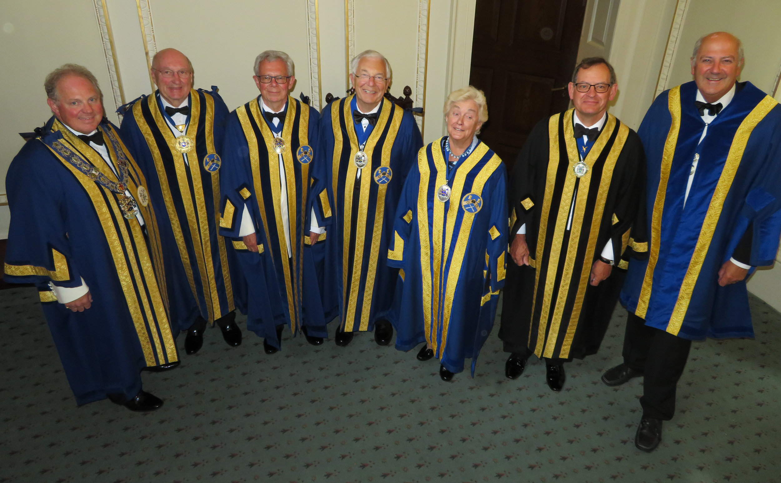 The Master, First, Second, Third & Fourth Wardens, Clerk & Assistant Clerk