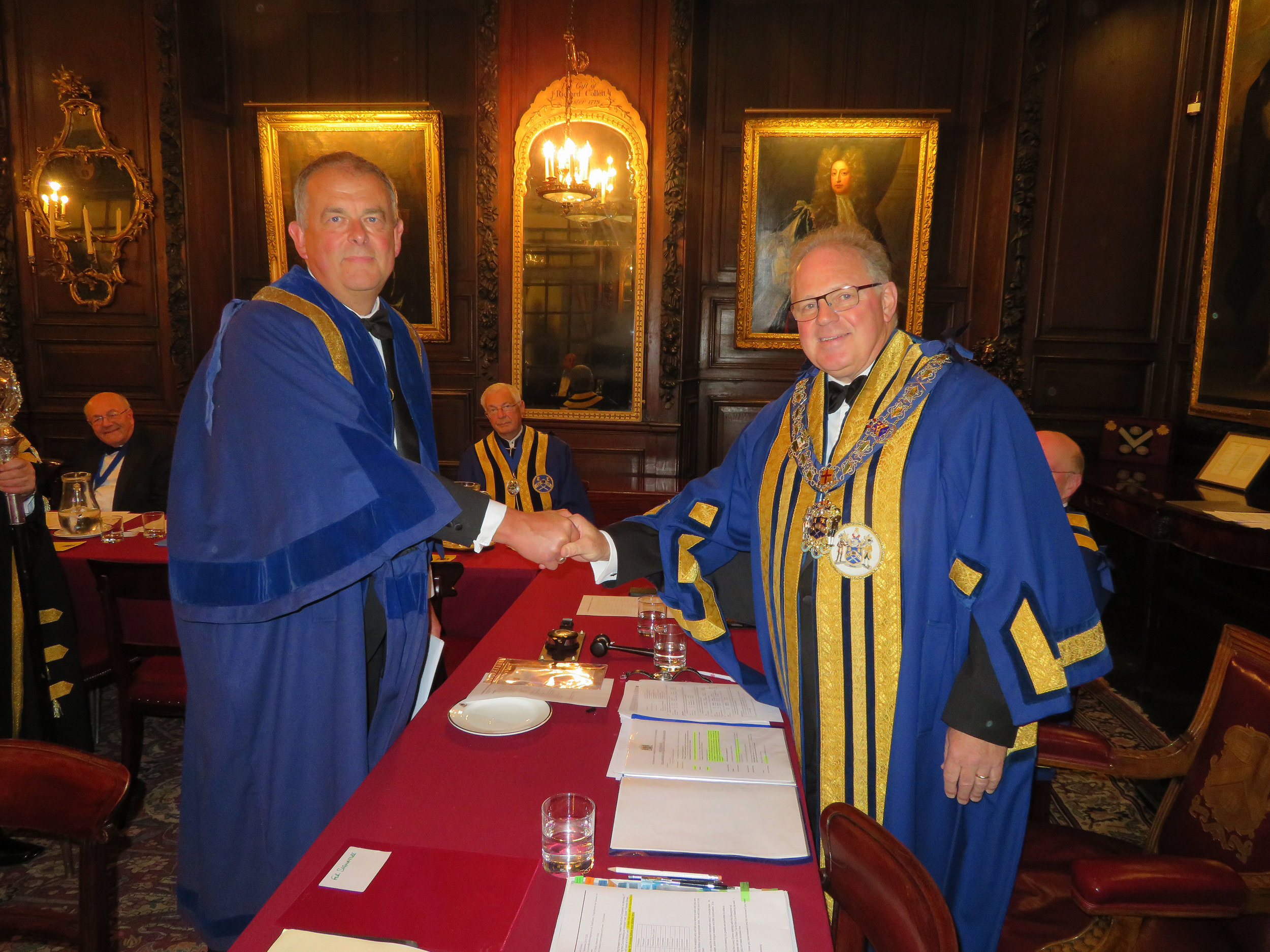 Liveryman Phil Egerton & The Master