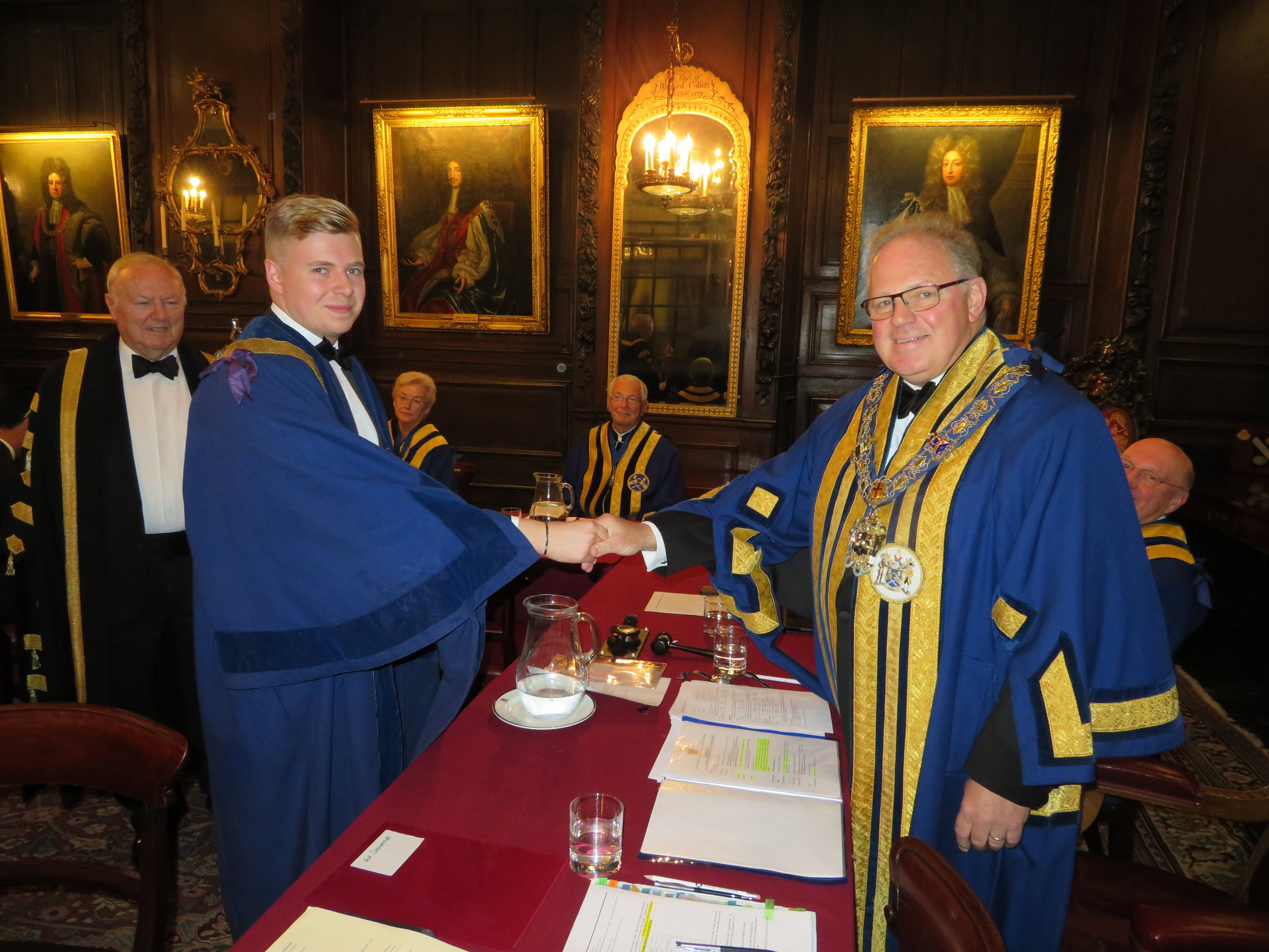 Liveryman Christopher Edgcumbe & The Master