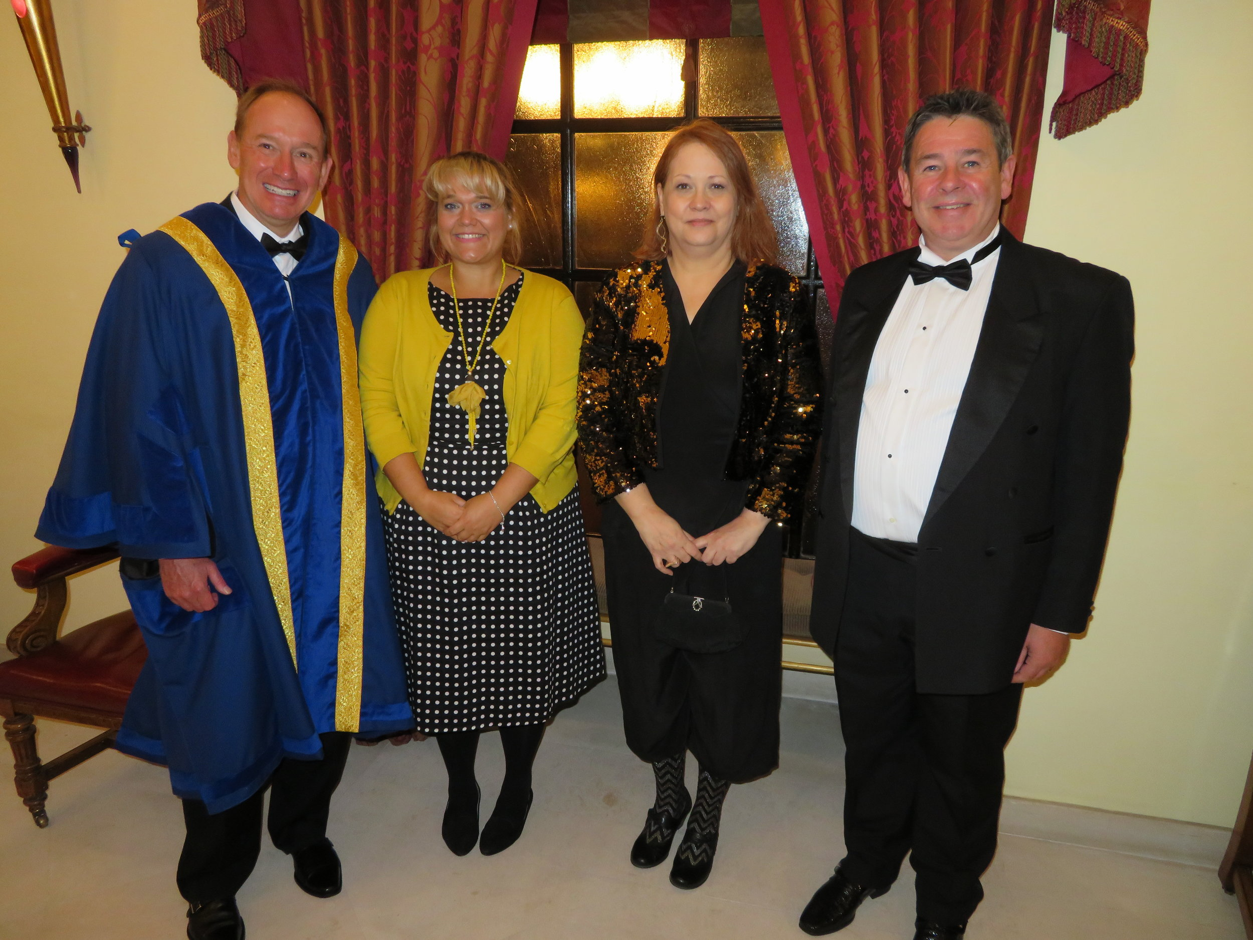 Liveryman Todd Evans, Freeman Angharad Sparkes, Trade Freeman Teri Howes & Freeman Paul Cushen