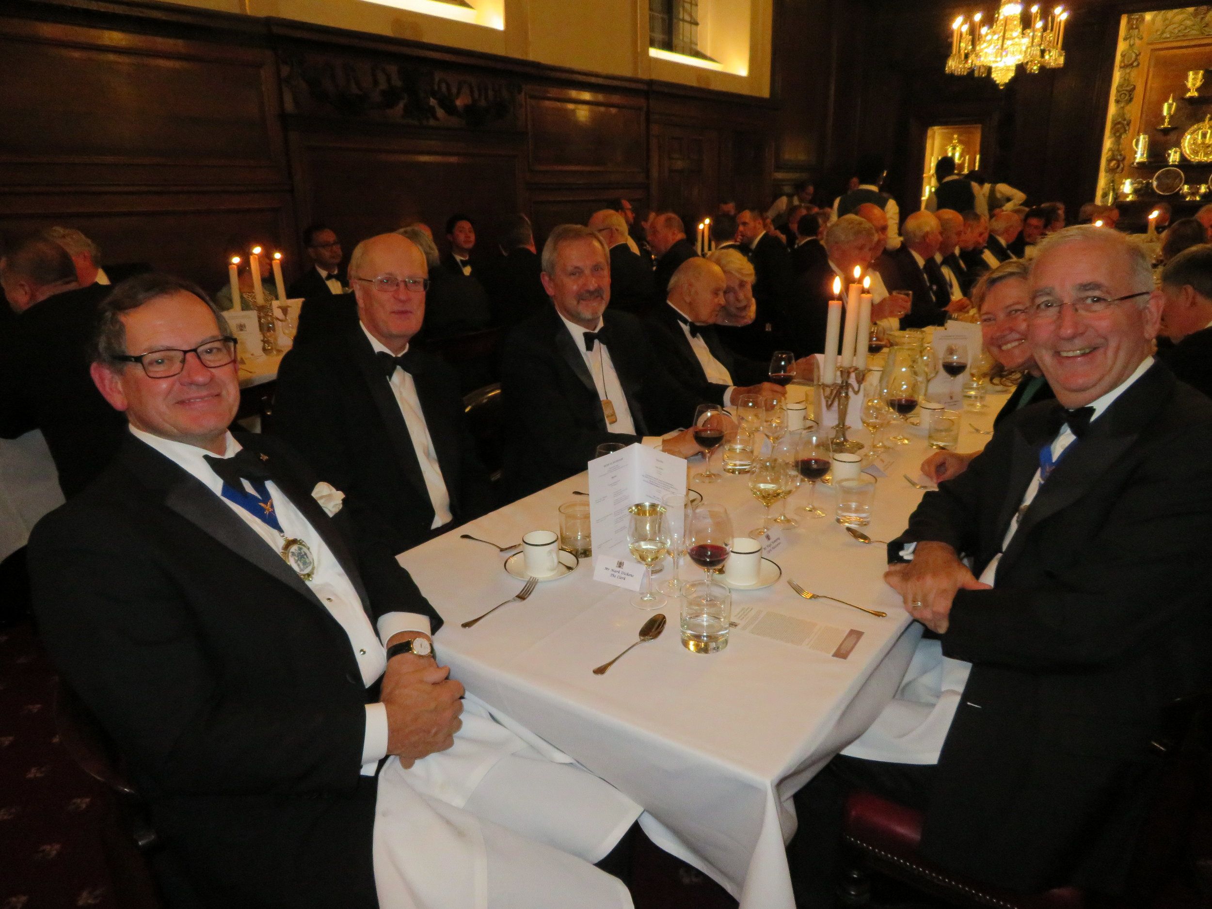 Liveryman Mark Russell, Brig Jonathan Bourne-May - Clerk Vintners, Mr Mark Dickens - Clerk GSWD,  Mr Nigel Bamping - Clerk Plaisterers & Mrs Belinda Tregear - Clerk Hackney Carriage Drivers