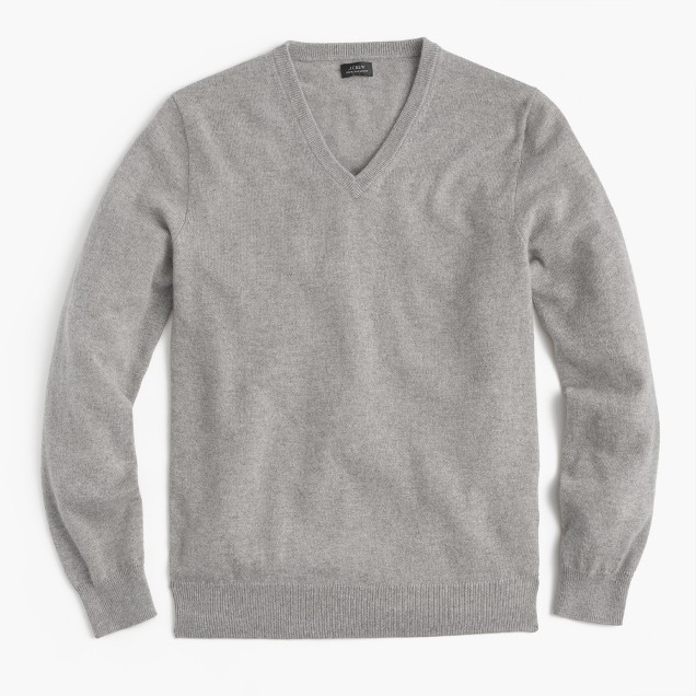 Jcrew Hearth Grey vneck cashmere sweater.jpeg