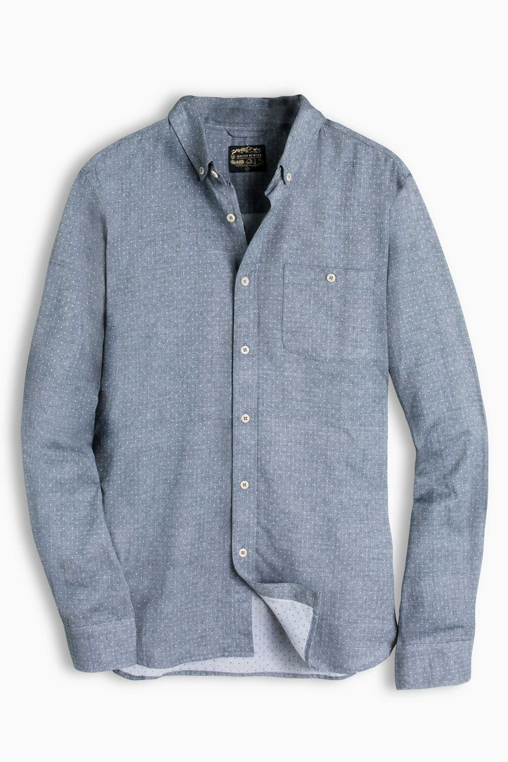 United By Blue Stillwell Dotted Twill Button Down