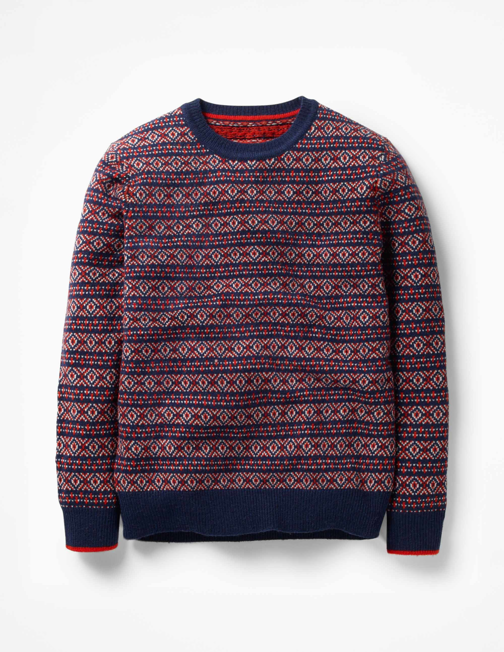 Boden Fair Isle Crew Sweater