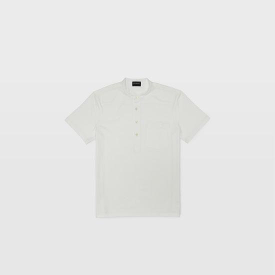 Club Monaco White Stripe short sleeve button henley.jpeg