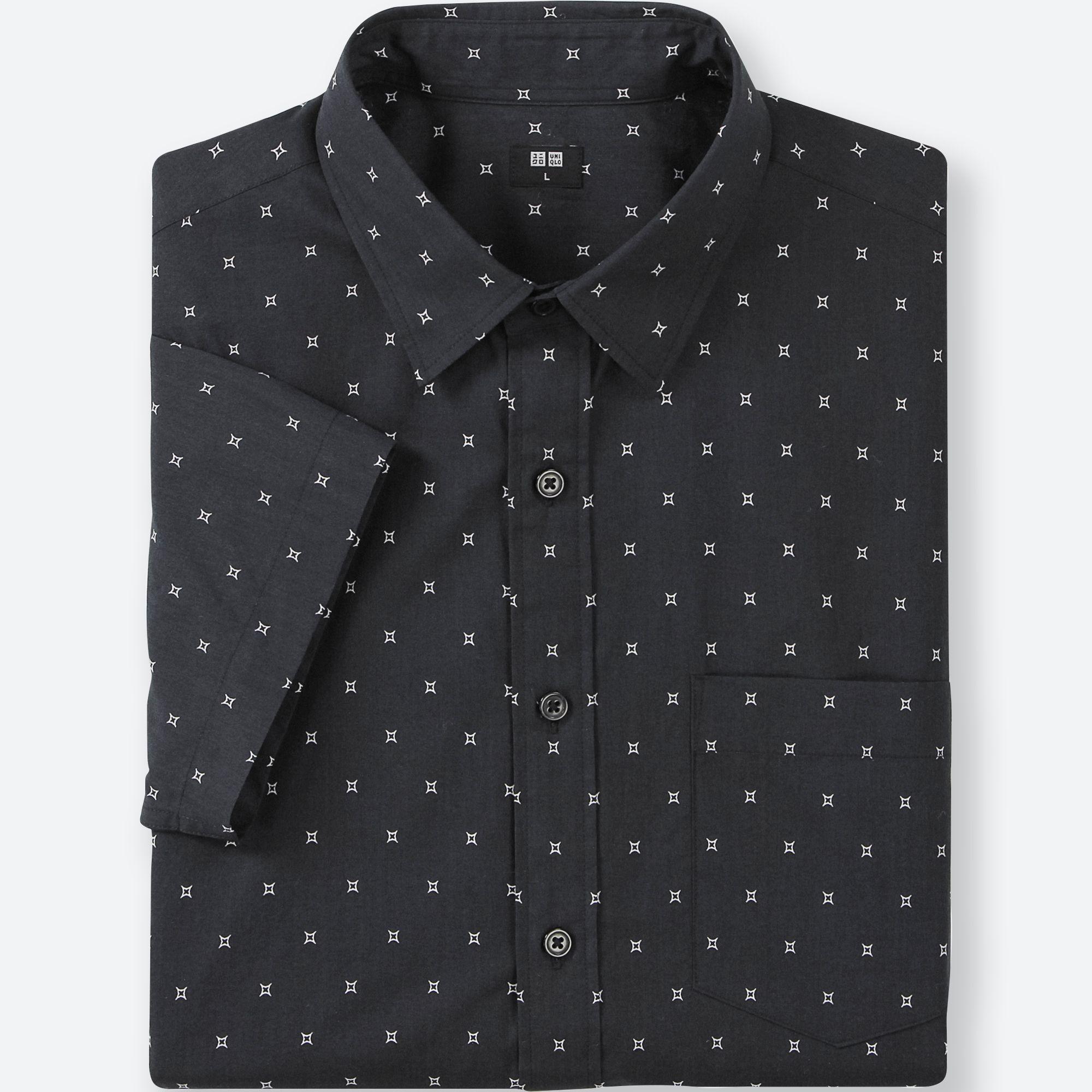 Uniqlo Broad Cloth star printed shirt.jpeg