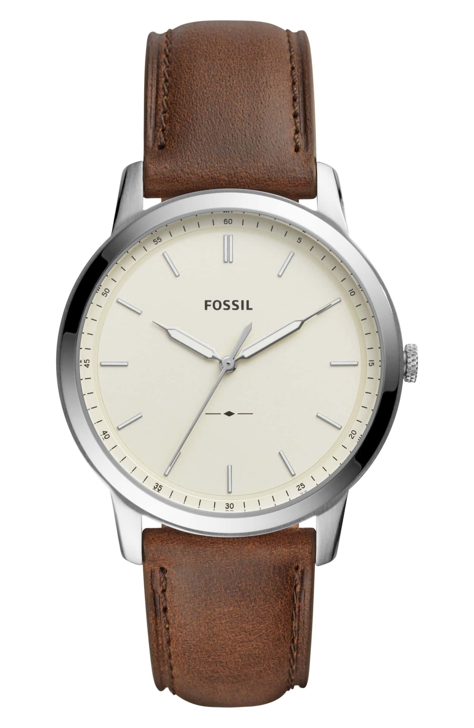 fossil minimalist leather strap watch.jpeg