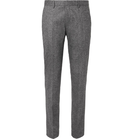 Hugo Boss Jiro Slim-Fit Mélange Virgin Wool-Blend Tweed Trousers