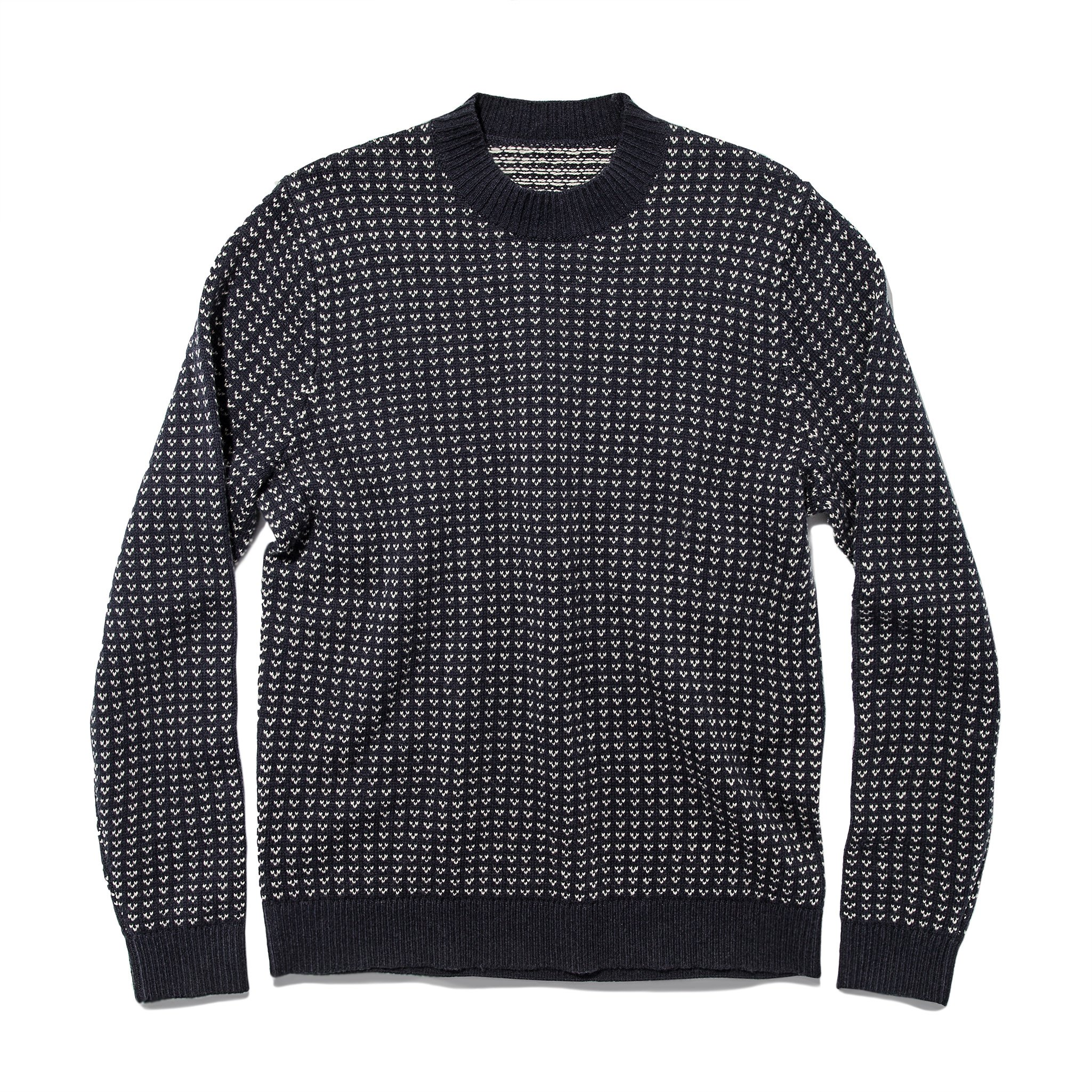 Taylor Stitch Rangeley Sweater in Navy Cash Merino