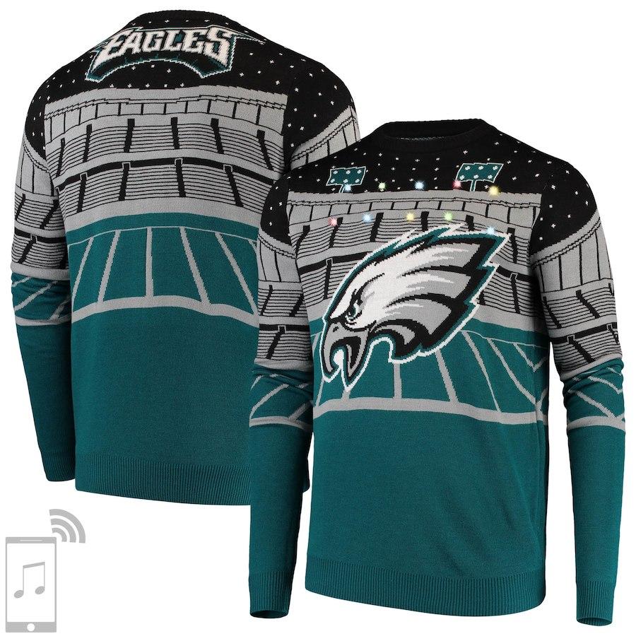 NFL Light Up Eagles Ugly Sweater