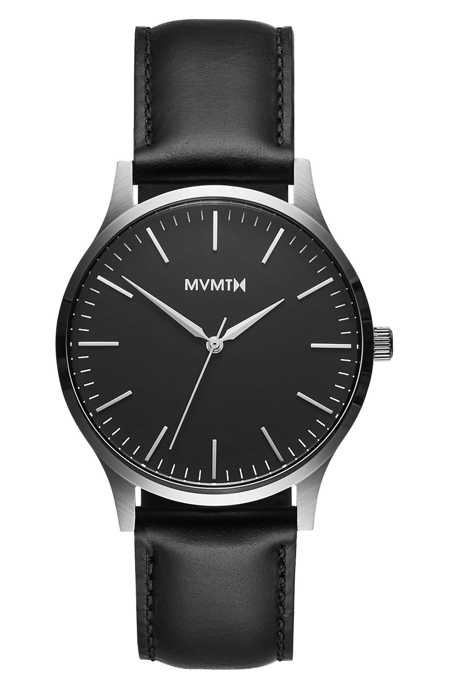 mvmt black leather watch.jpeg