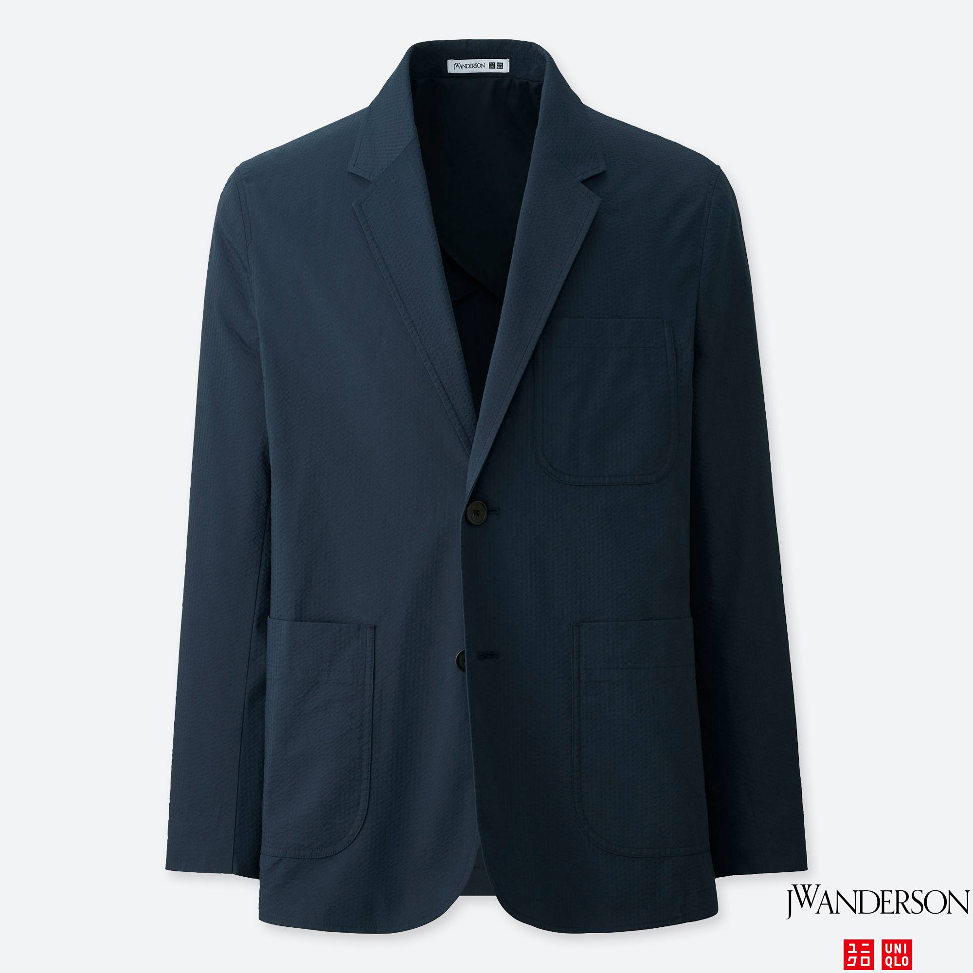 Tailored Seersucker Jacket - Uniqlo's slim fit jacket for an elevated look that stays casual.