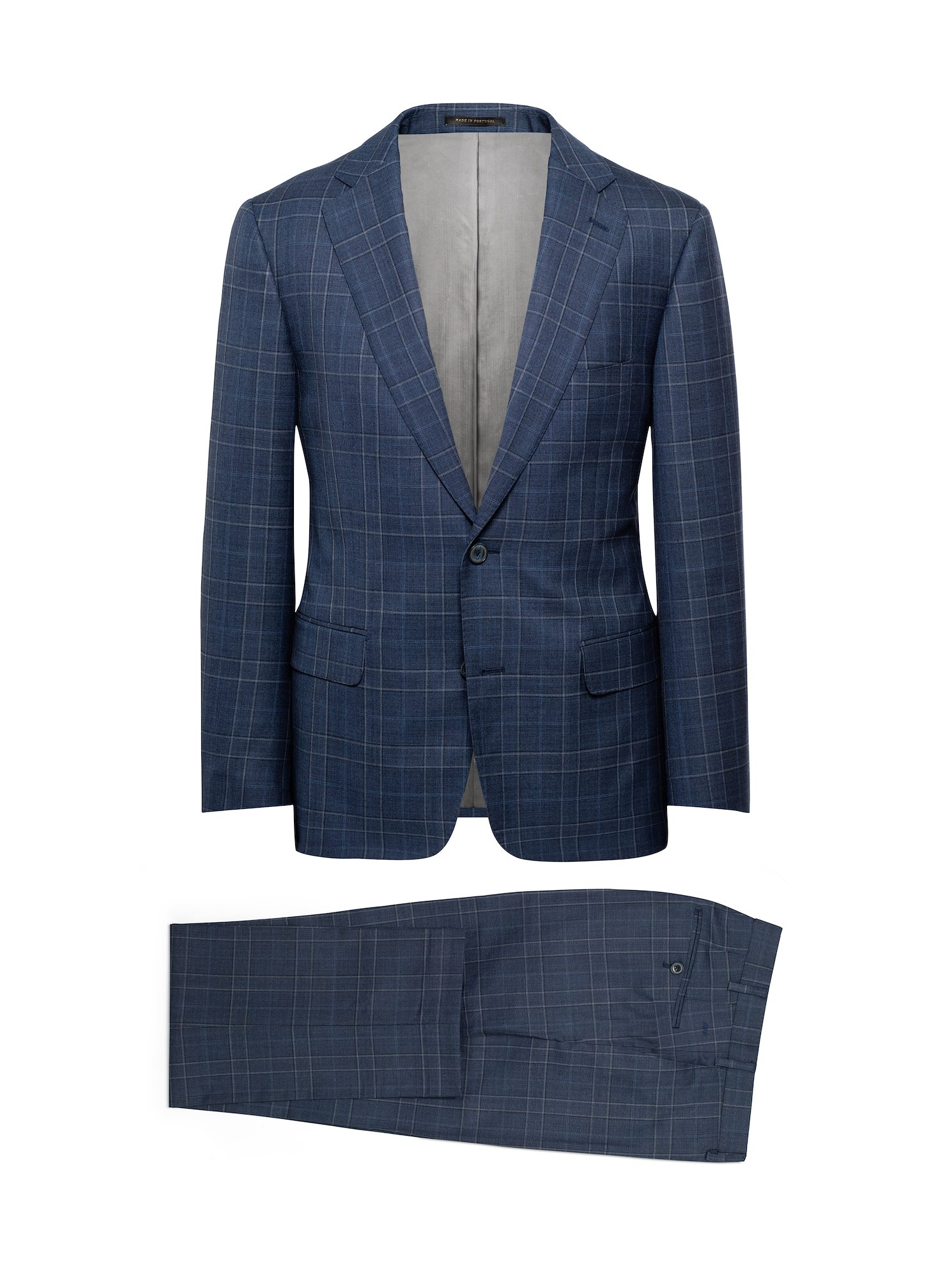 J. Hilburn Navy-Grey Revenge Check Suit - Get a MTM suit that makes you feel like a king. If you want to look how much you're worth, this is the pick.
