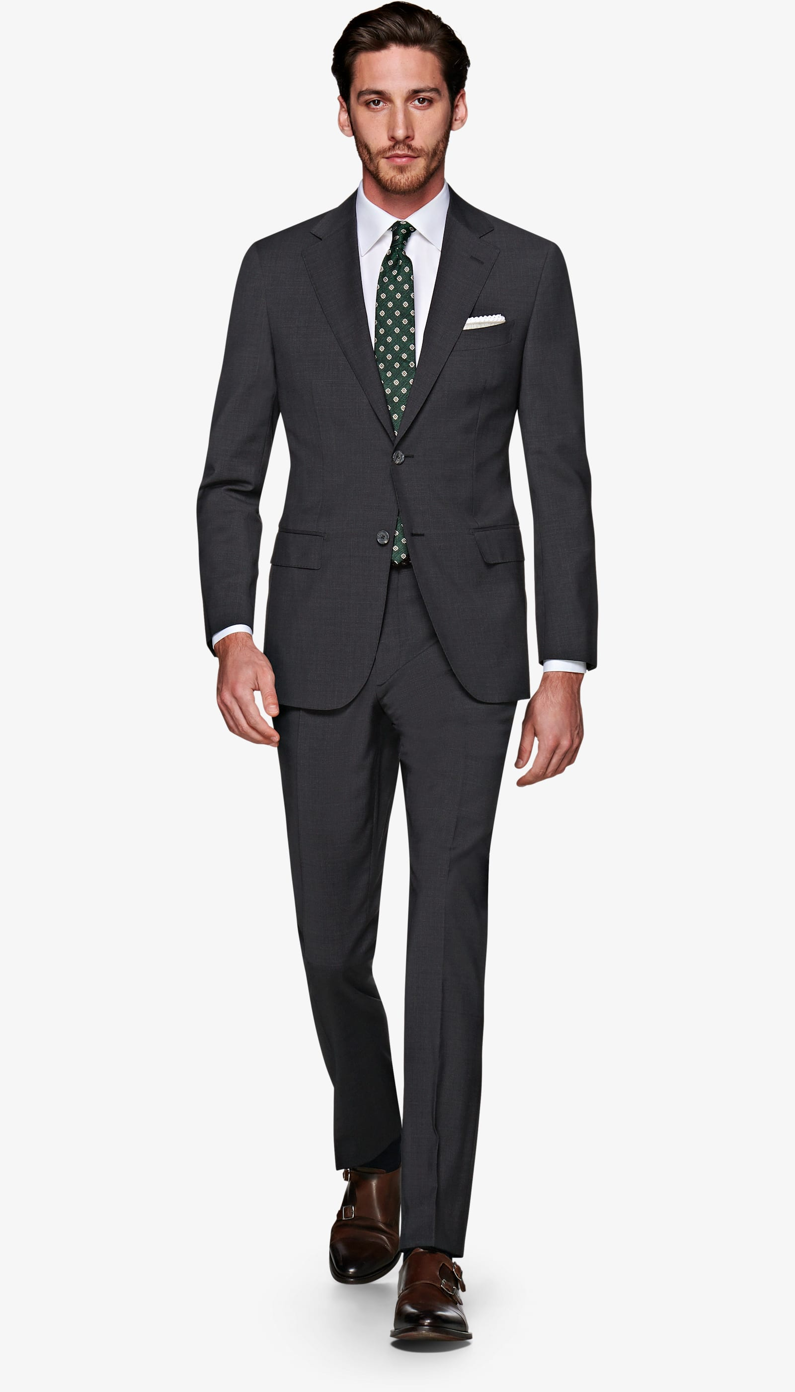 Suit Supply Dark Grey Hounds-tooth - Suit Supply give us an office standard with a bit of character in a subtle pattern. Perfect for office day-to-day