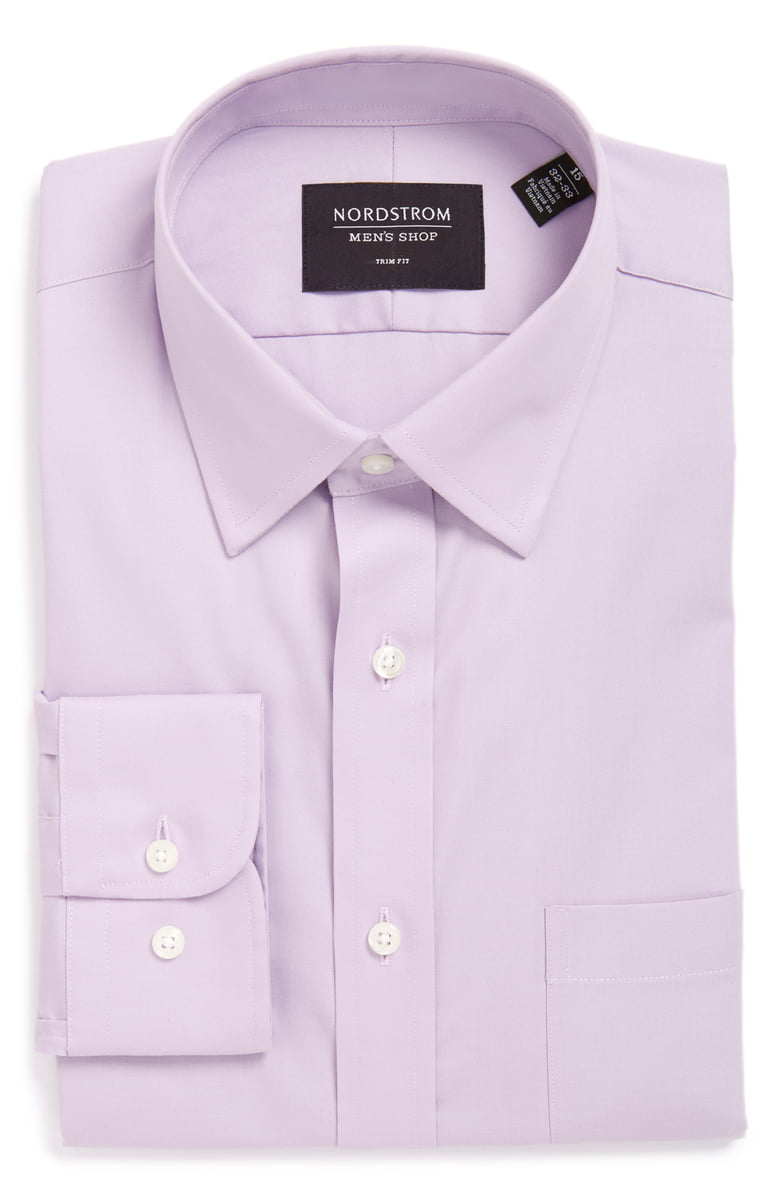Trim Fit Non-Iron Dress Shirt - Nordstrom's take on a slimmer standard dress shirt.