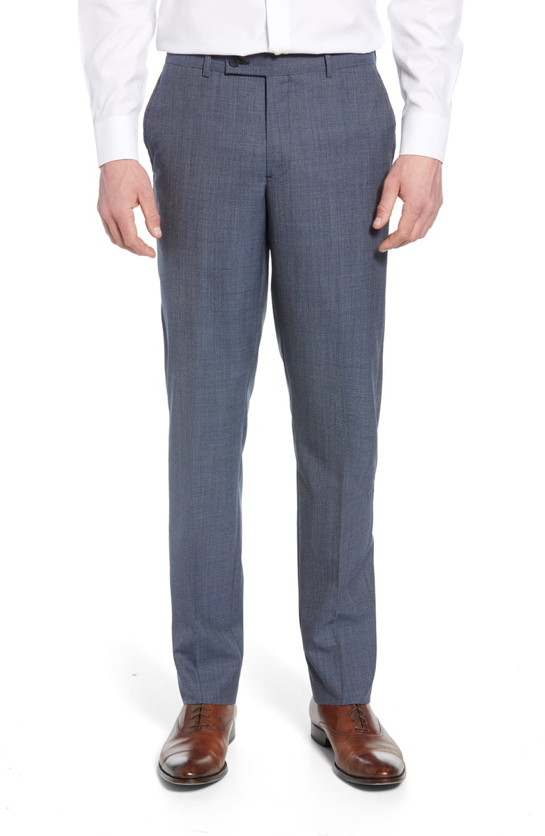 Flat Front Houndstooth Wool Pants - Nordstrom has some elevated wool chinos that are perfect for the office