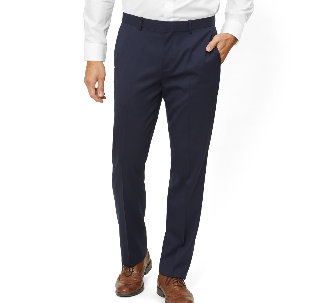 Classic Navy Wool Pants - The Tie Bar has some of the most affordable all-wool pants available