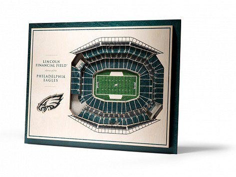 Wooden 5-Layer Stadium Wall Art - Perfect for the man cave or office, this wooden 3D stadium wall art is a great gift for any sports fan Dad. They have College, NFL, NHL, MLB, and NBA stadiums as well, so regardless of which team is his favorite, they have it.