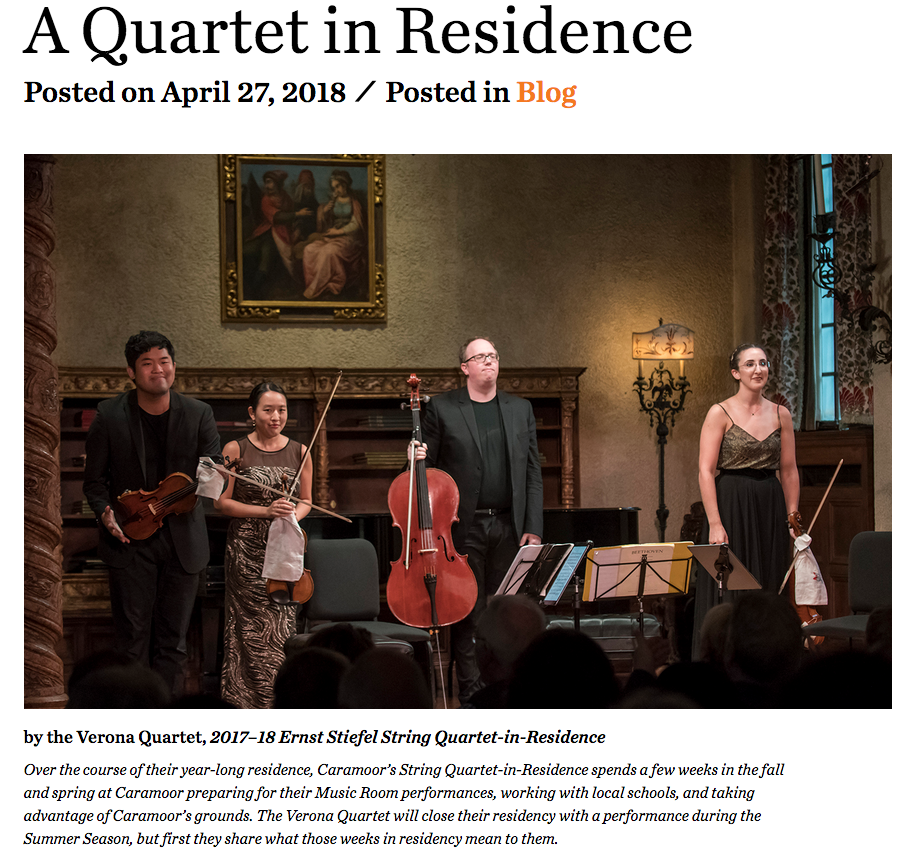 Click to read our blog post on Caramoor's website