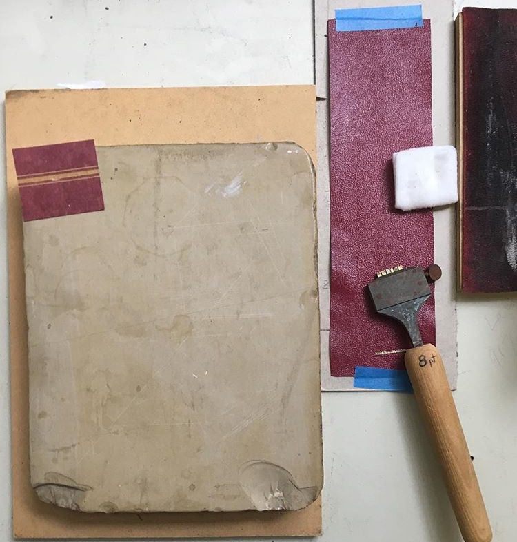 process shots from hudson river bindery