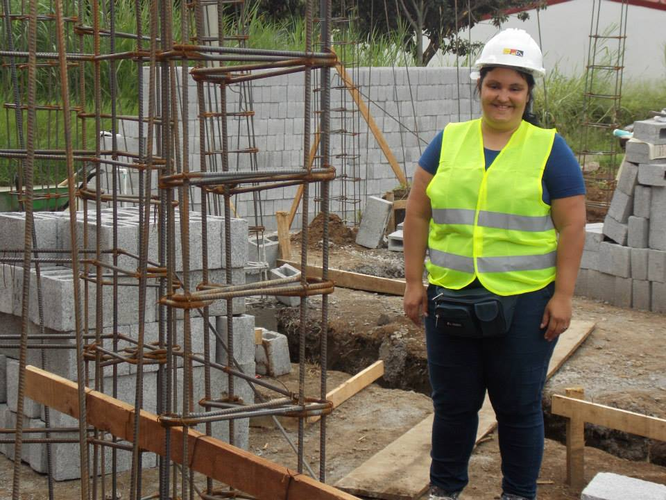 Madelaine Artavia Sotela on one of her construction sites. Photo; Arquitectura Arquenz SA