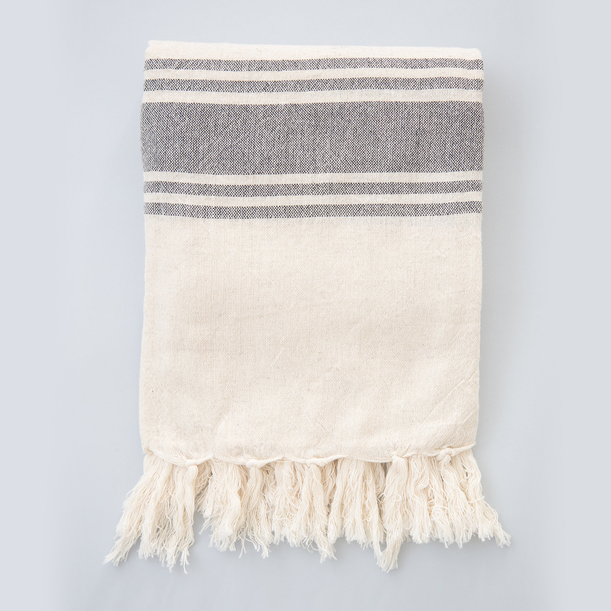 Five Stripe Linen Blanket